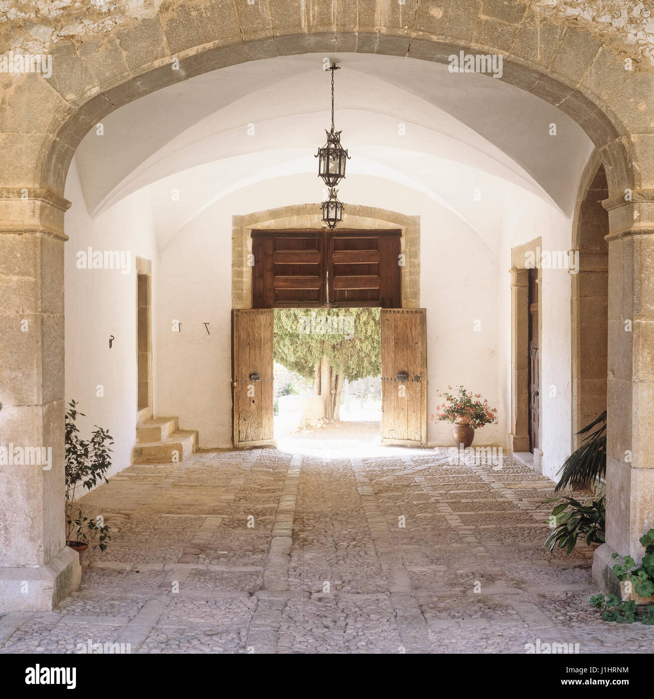 Rustic entry way. Stock Photo