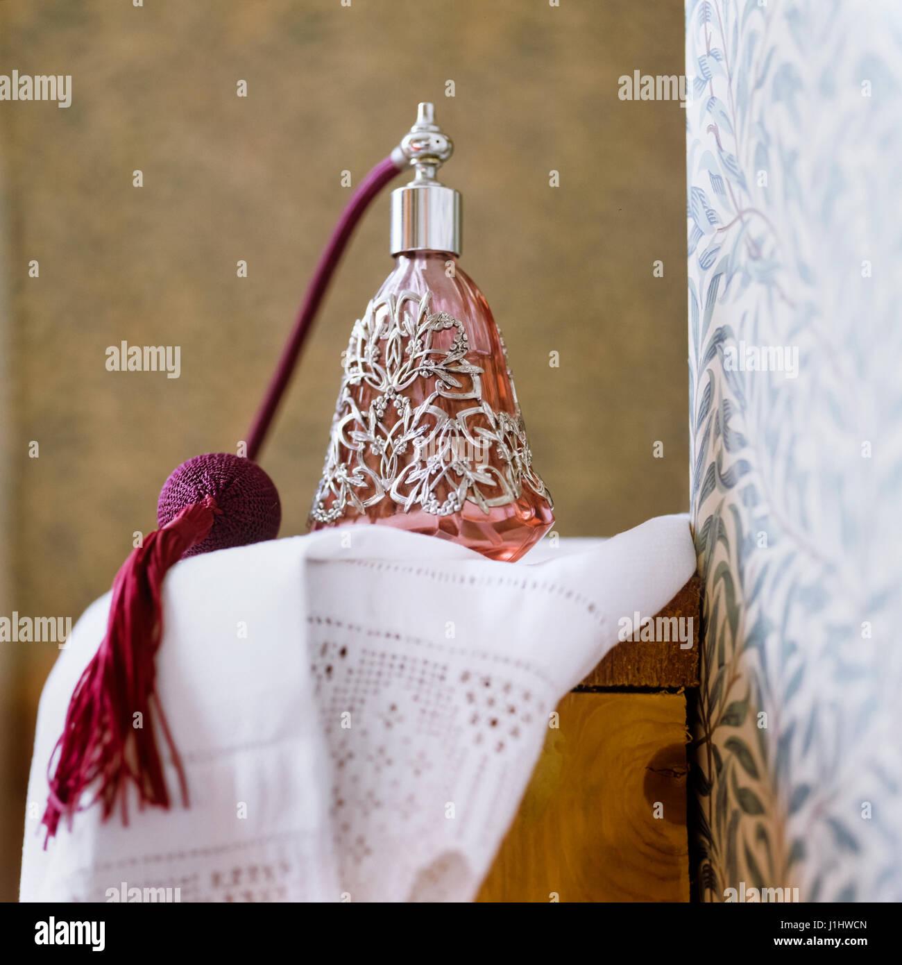 Vintage perfume bottle. - Stock Image