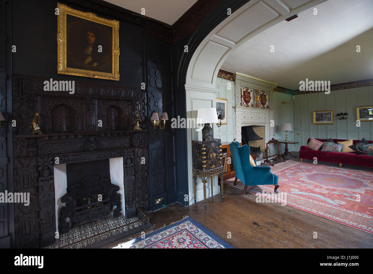 Elmore Court stately home in Gloucestershire, owned by Anselm Guise after inheriting the 750-year old property from - Stock Image