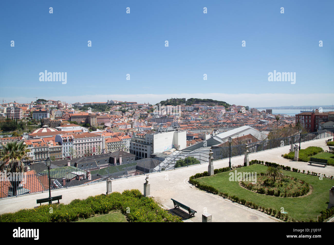 A view over the city of Lisbon, Portugal. - Stock Image