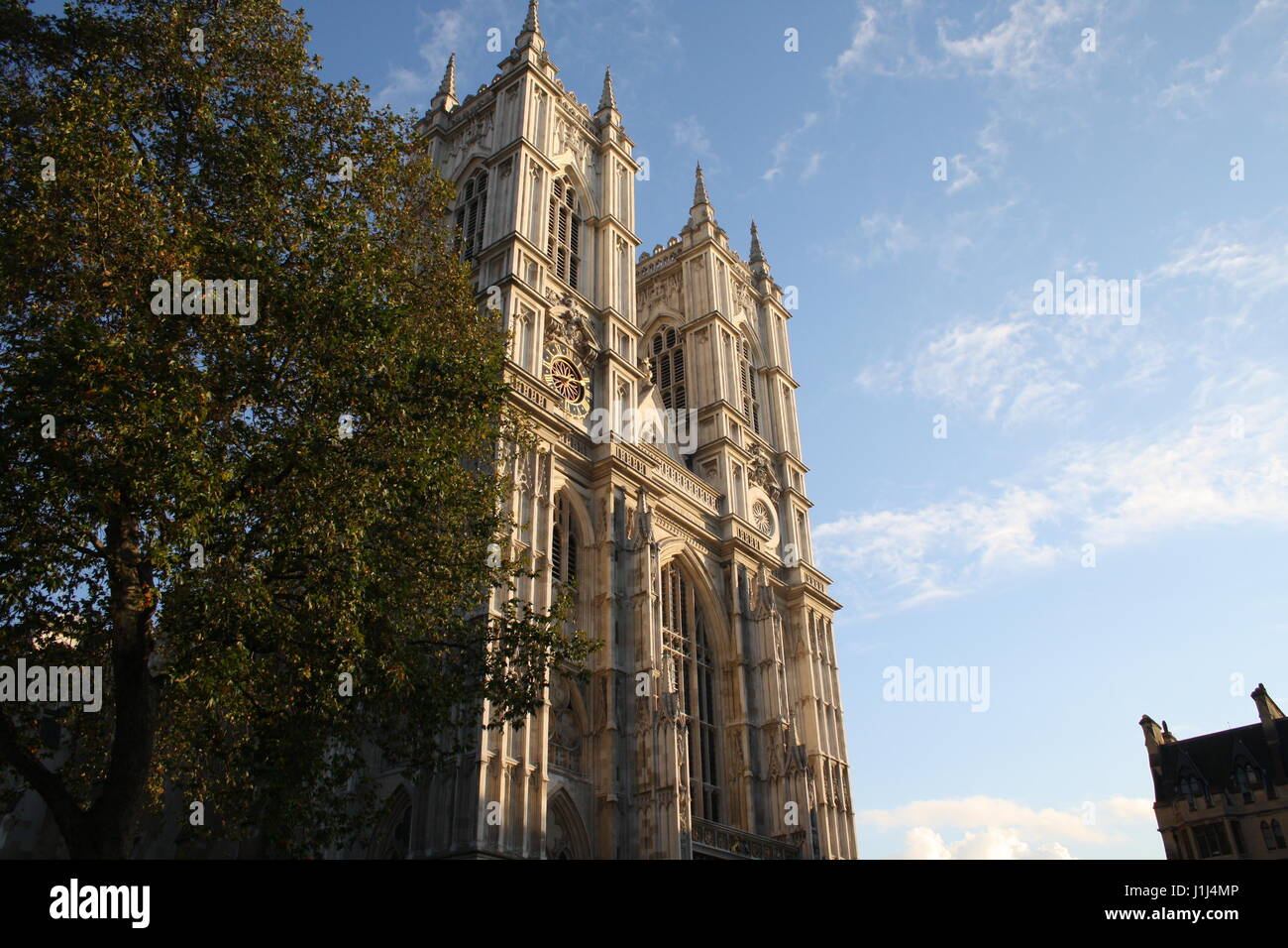 The Westminster Abbey in London, U.K. on a sunny day Stock Photo