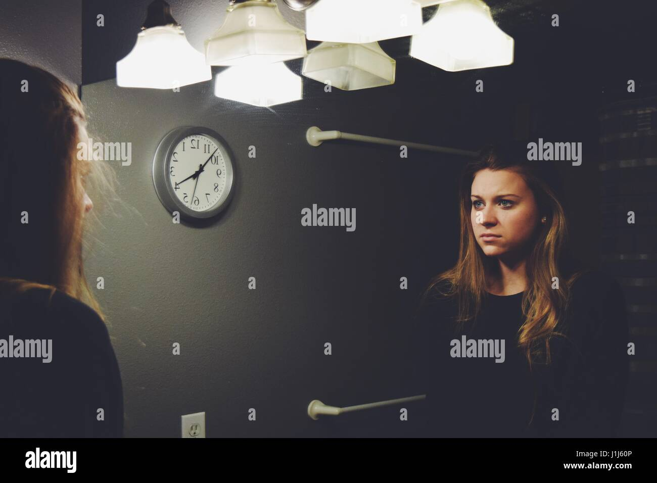 Mirror Reflection - Stock Image