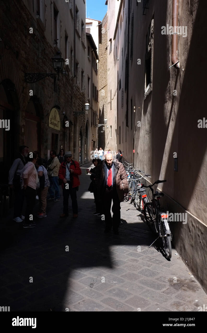 An old man in Florence, Italy - Stock Image