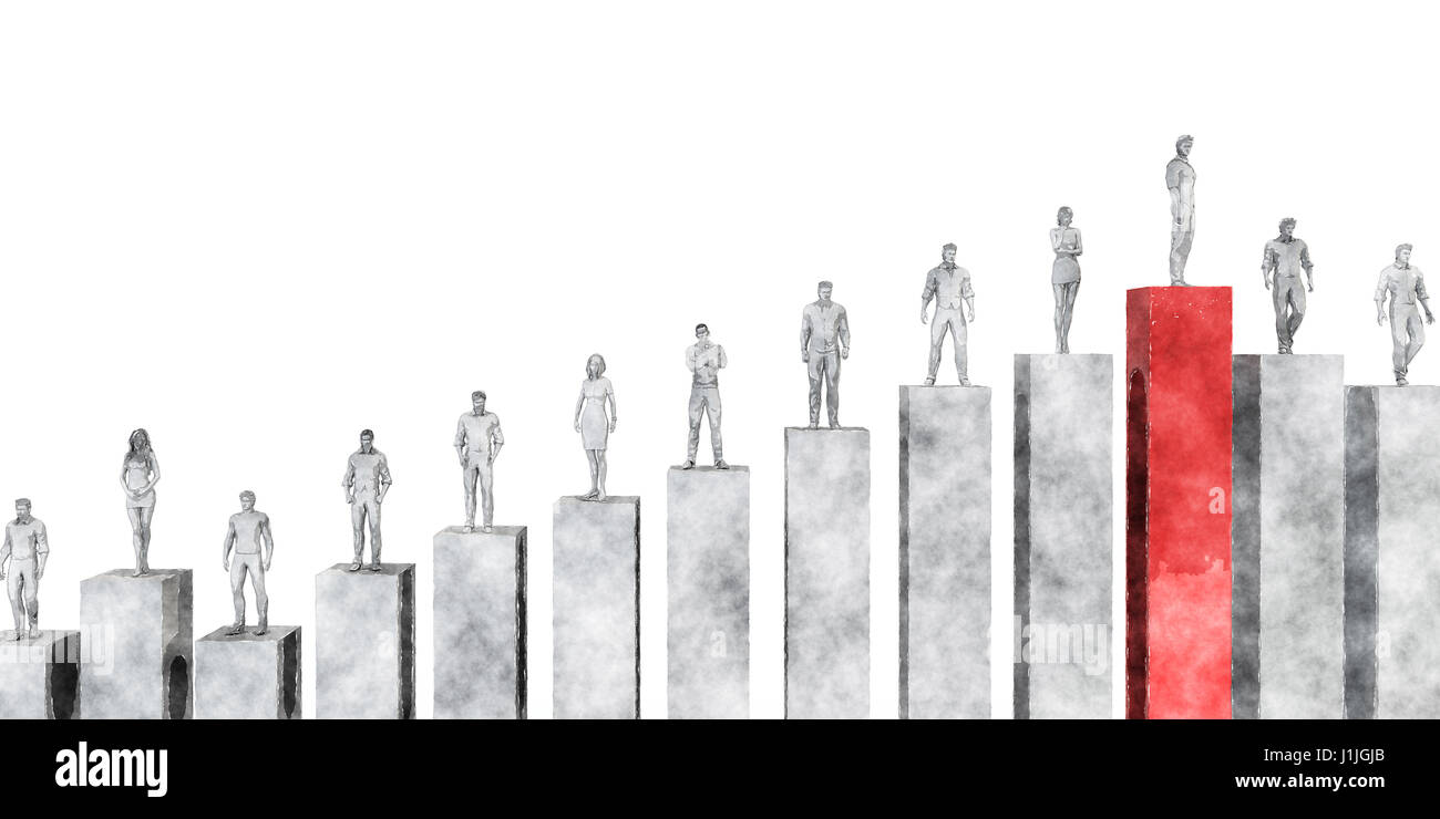 Business Management Strategy and Development as a Chart Concept Stock Photo