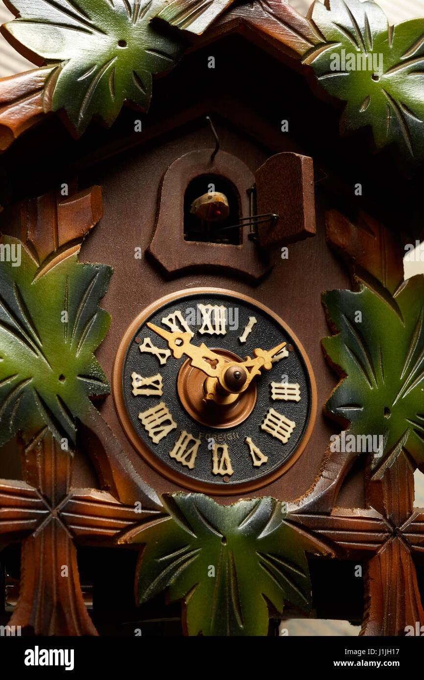 Wooden Cuckoo Clock - Stock Image
