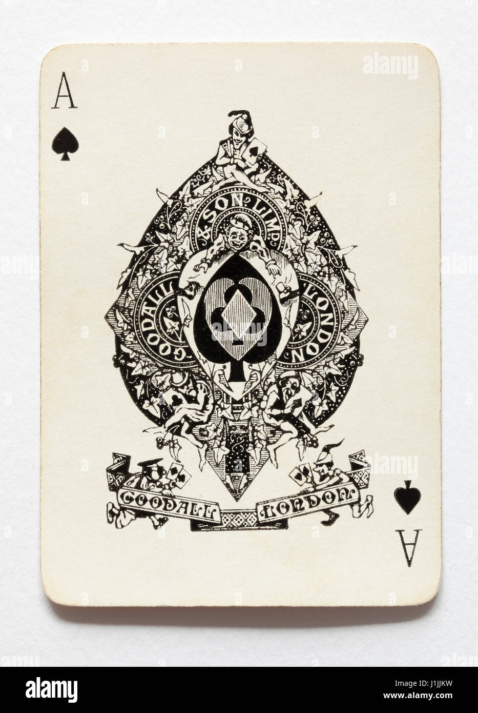 Vintage Ace Of Spades Playing Card Vintage Goodall Son London