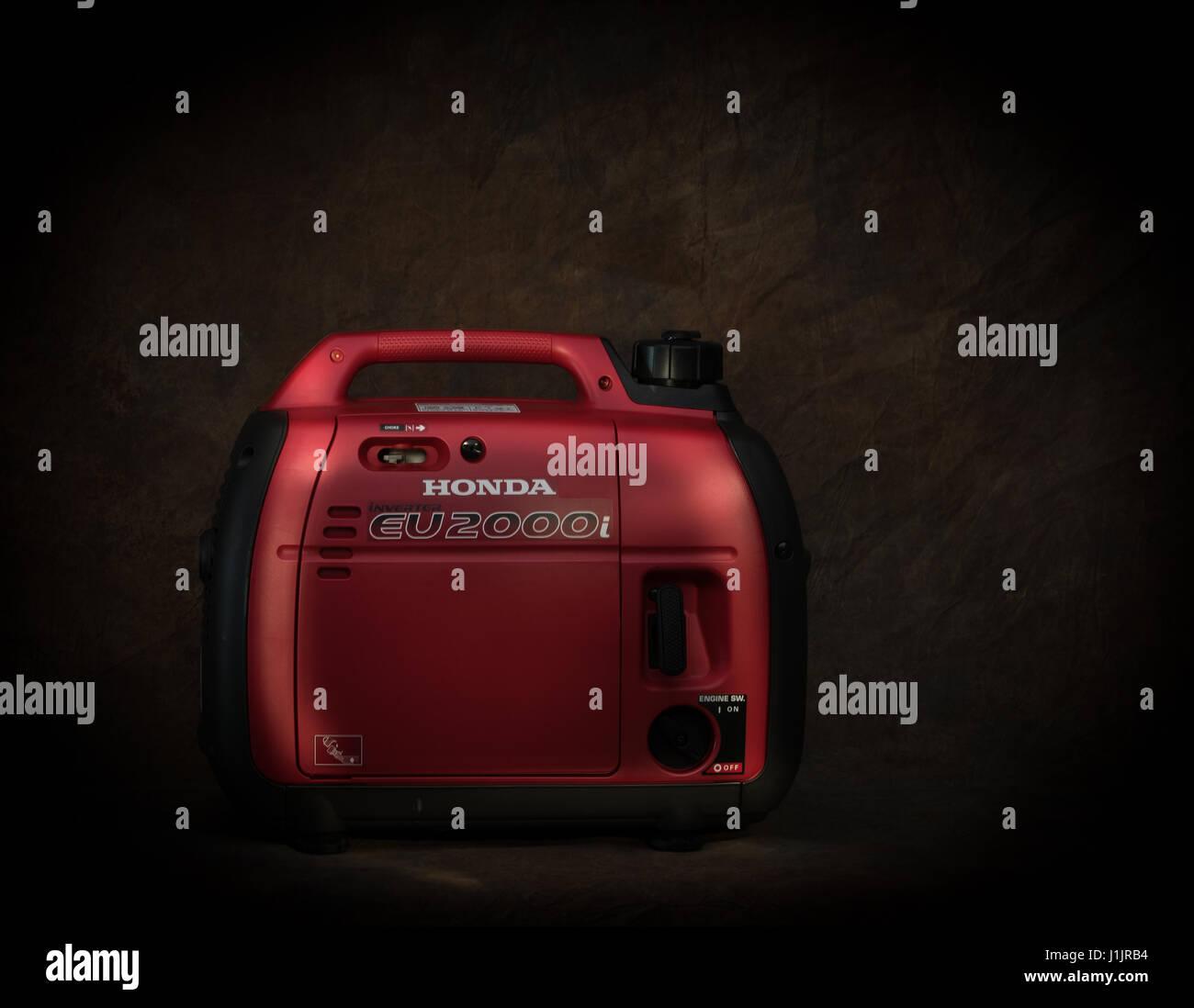 Honda generator - Stock Image