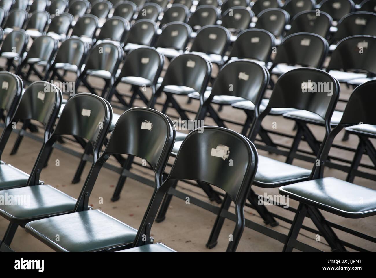 Amphitheater seating - Stock Image