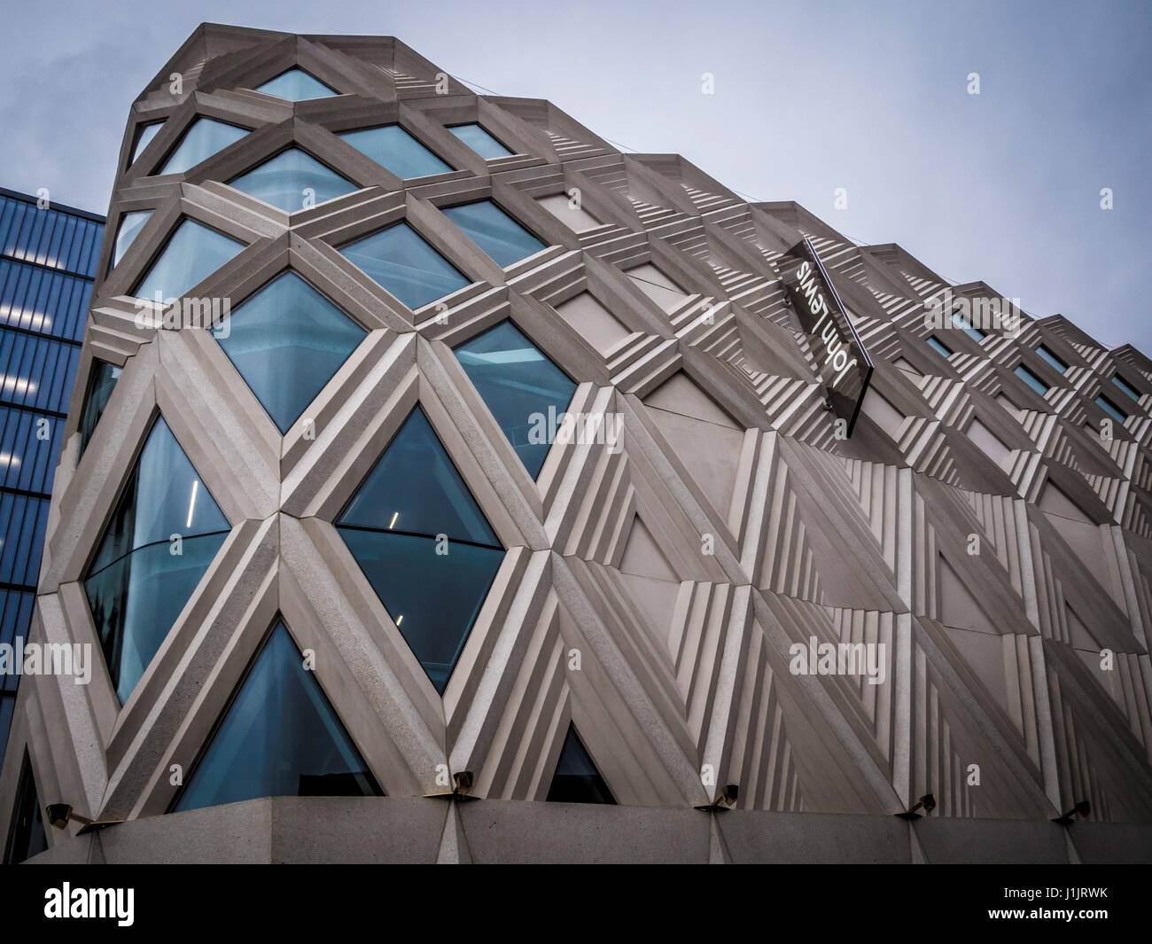 Exterior of John Lewis store at Victoria Gate, Leeds, UK. - Stock Image