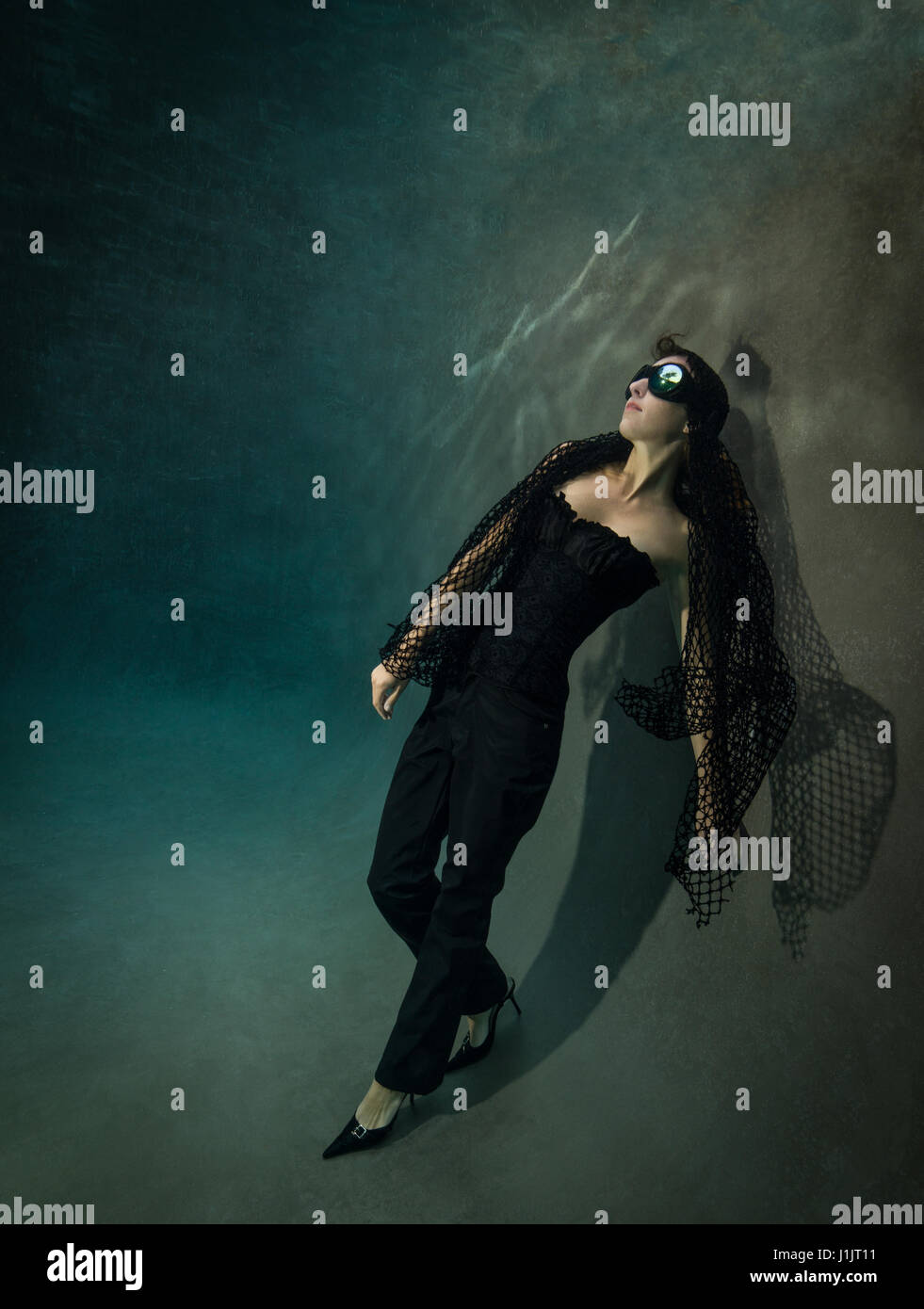 Underwater fashion - Stock Image