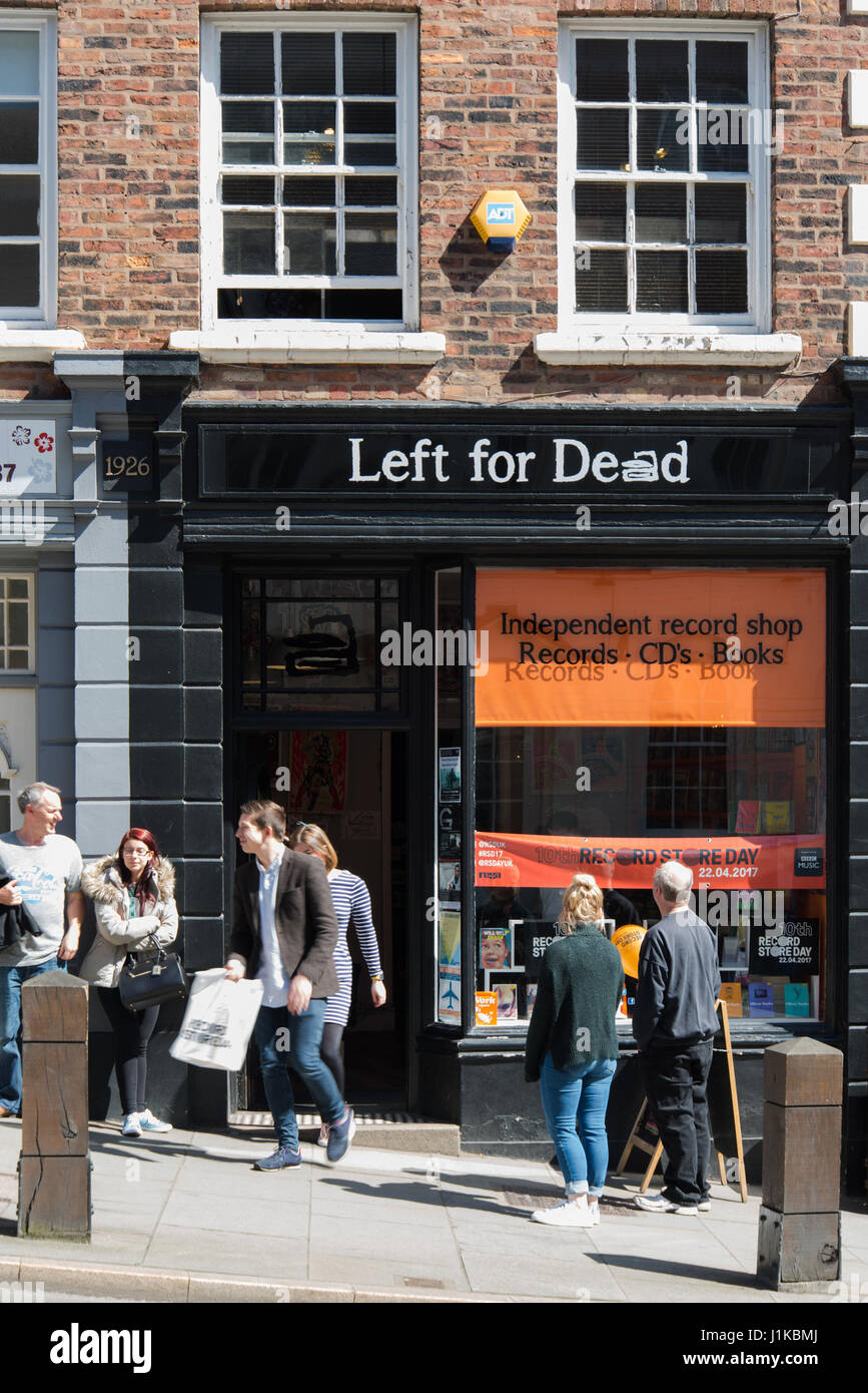 Shrewsbury Shropshire UK. 22nd April 2017. Left for Dead one of three vinyl independent record shops in Shrewsbury Shropshire that opened their doors ... & Shrewsbury Shropshire UK. 22nd April 2017. Left for Dead one of ...