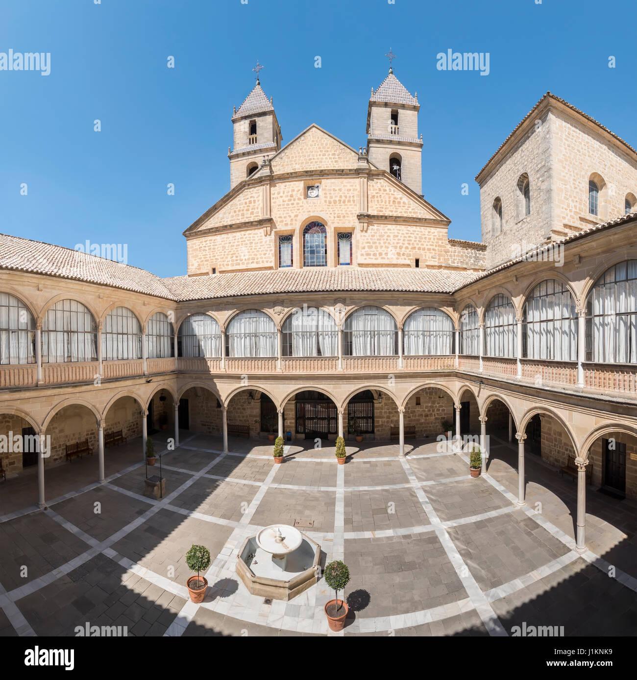Hospital de Santiago Courtyard in Úbeda  (Cultural heritage of Humanity), Jaén, Spain. World Heritage - Stock Image