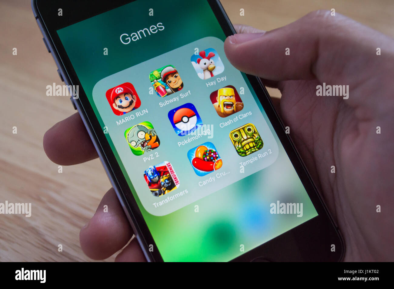Candy Crush Game Screen Stock Photos & Candy Crush Game Screen Stock