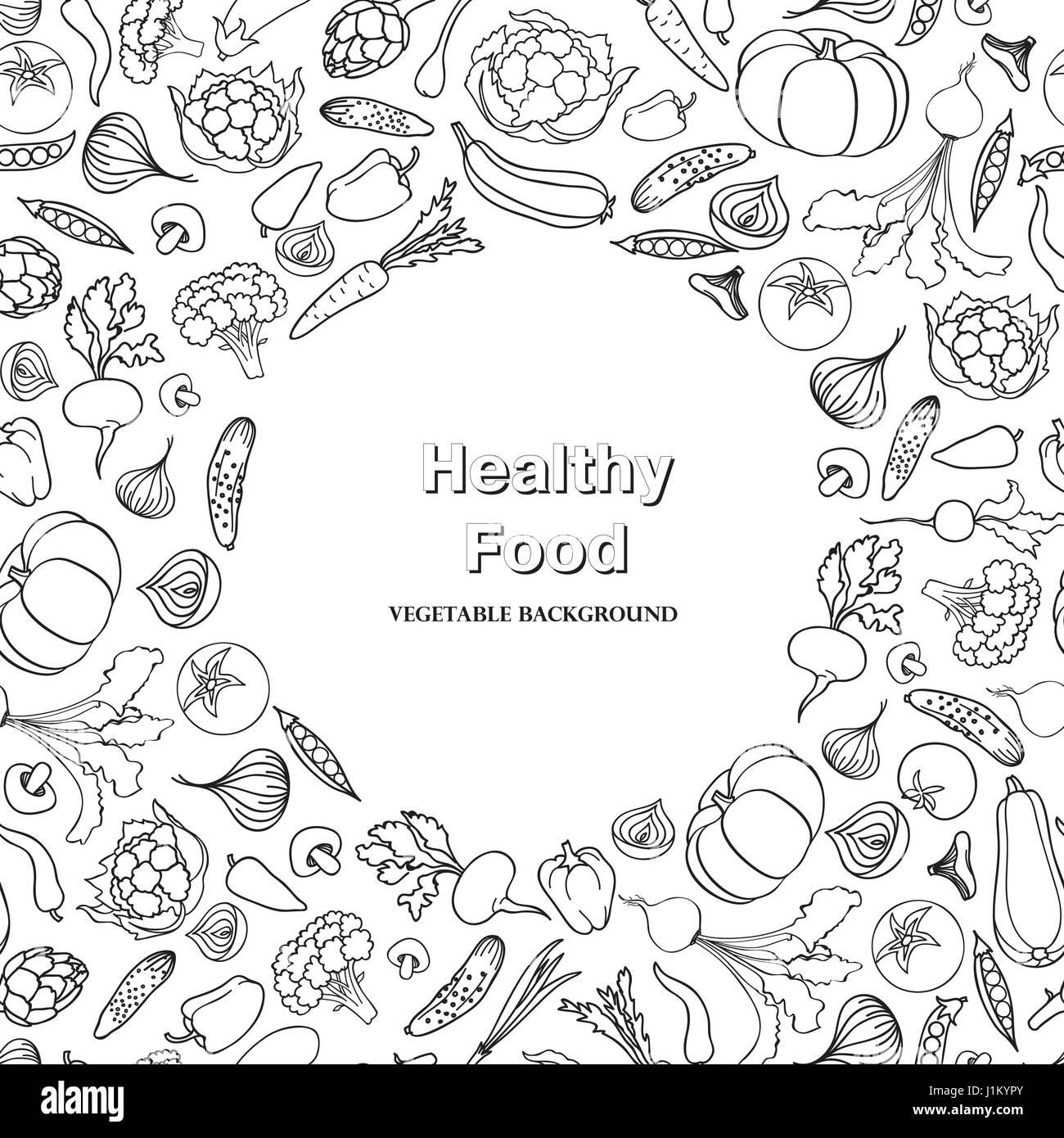 Vegetable Background Healthy Food Frame Decor Food