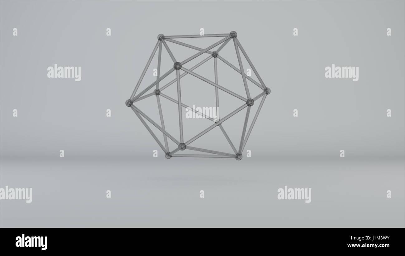 glass model of molecular lattice Stock Photo