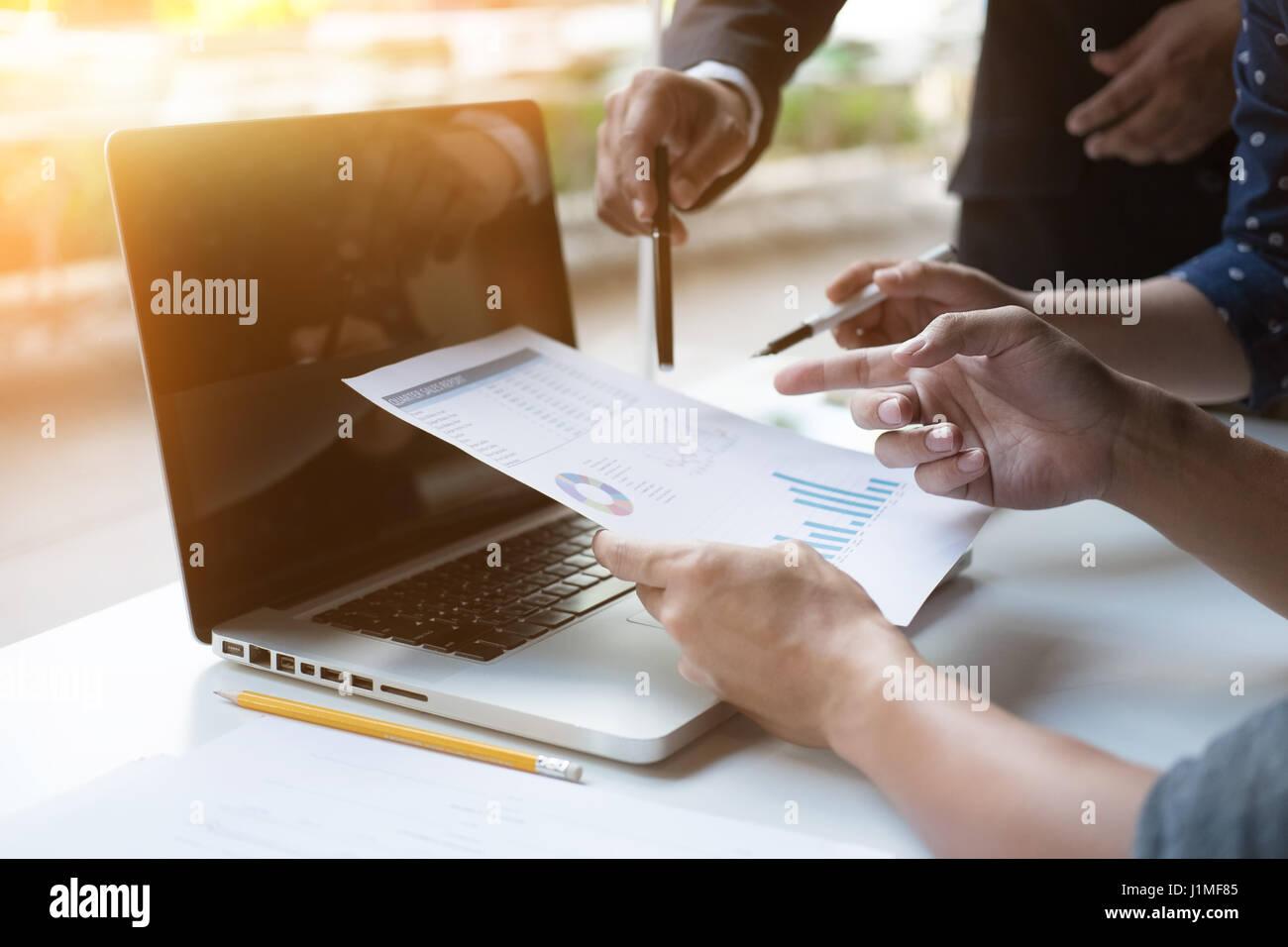Business talks concept,morning light. - Stock Image