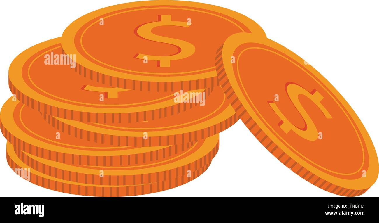 money coins icon - Stock Image