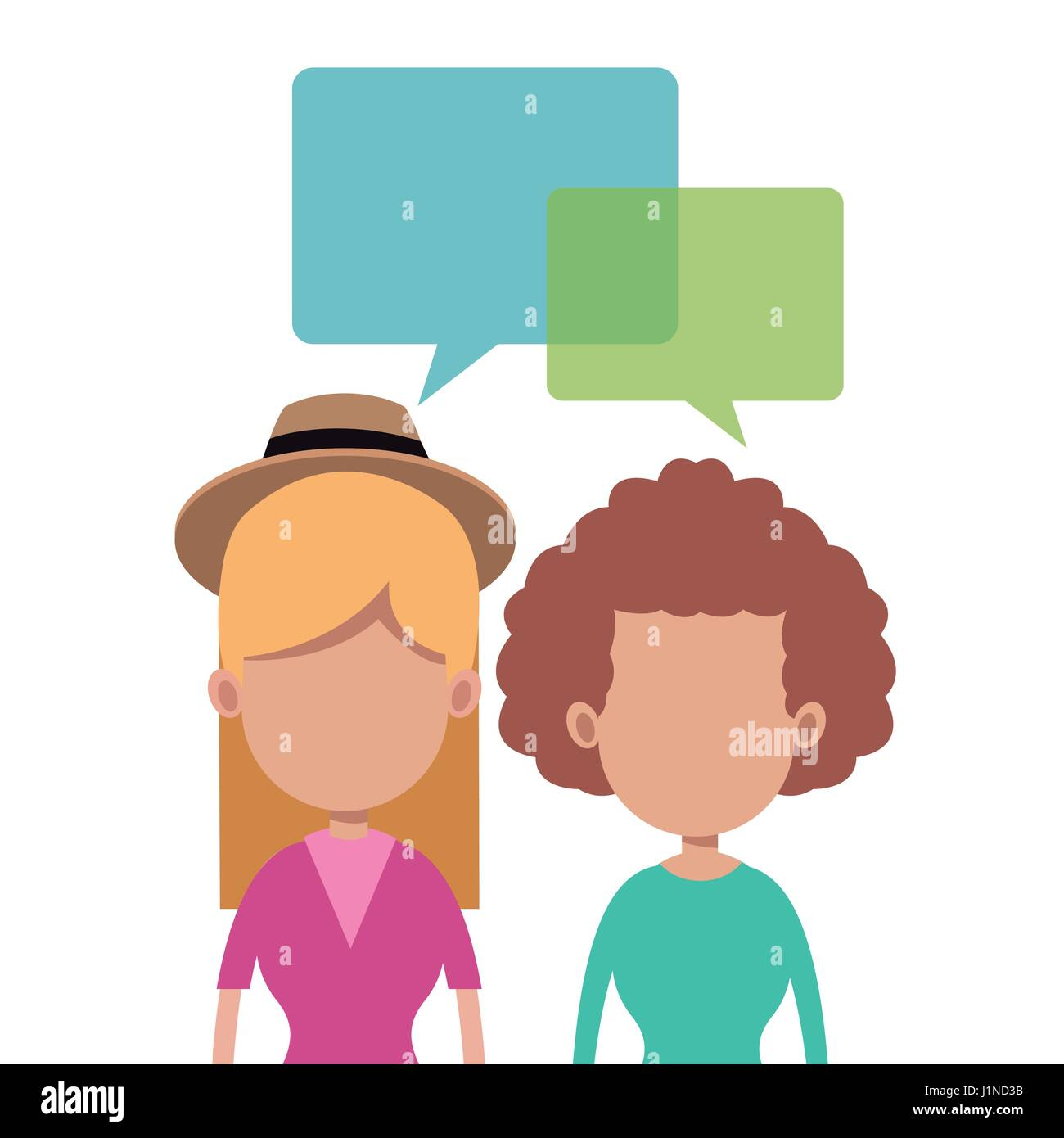 women together talking image Stock Vector