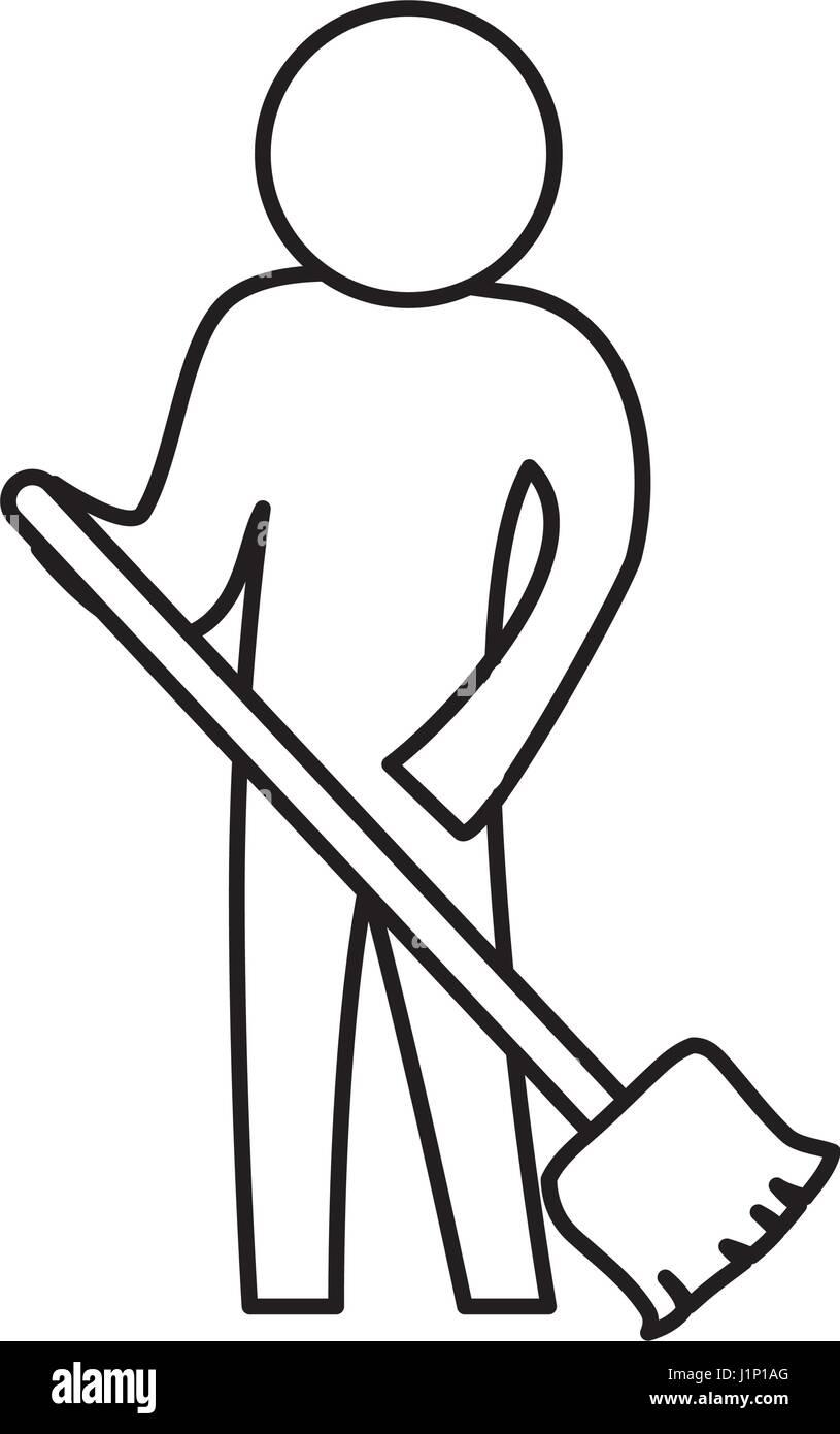 sweeping the floor stock vector image art alamy https www alamy com stock photo sweeping the floor 138781624 html