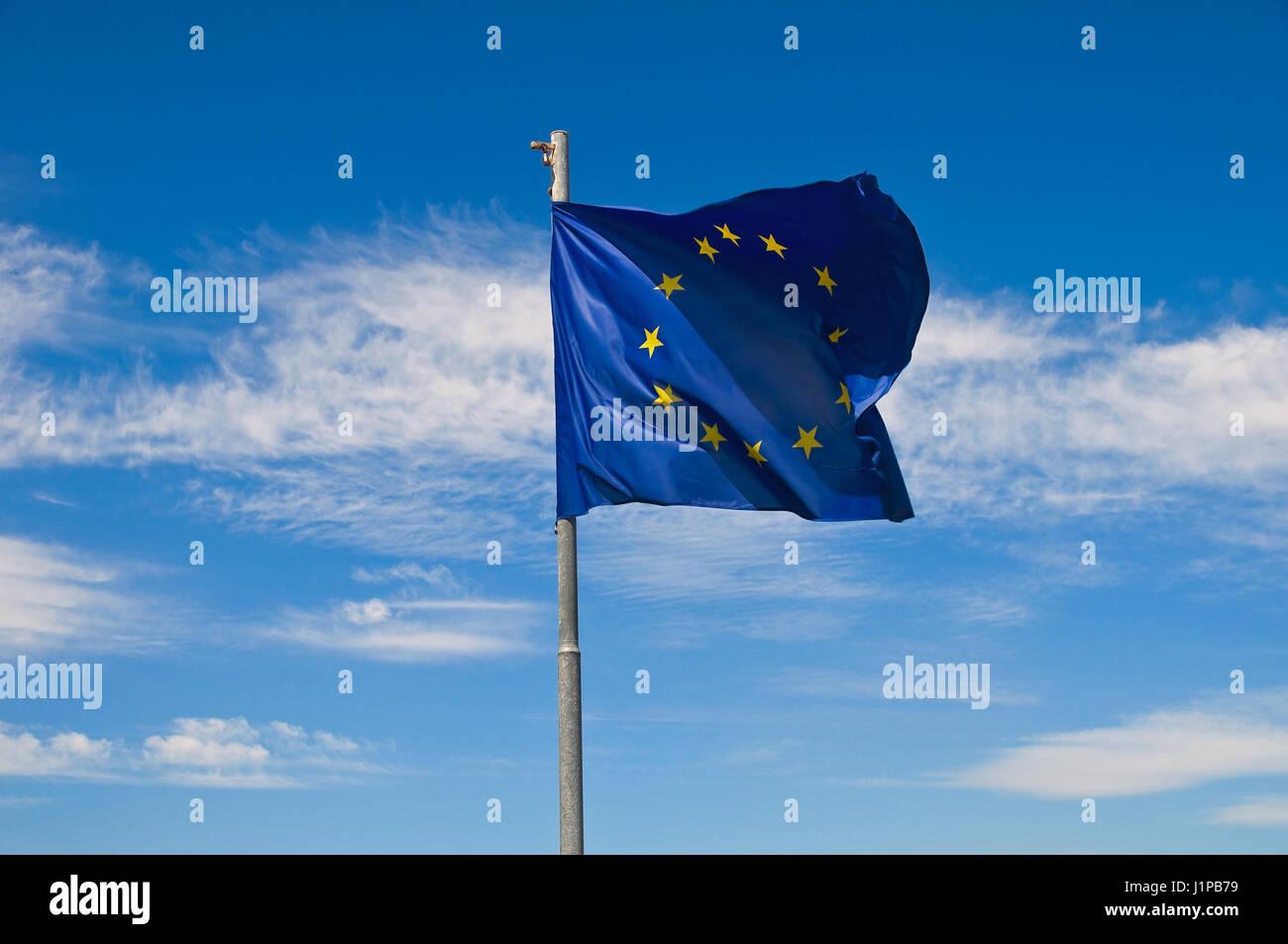 European Union flag. - Stock Image