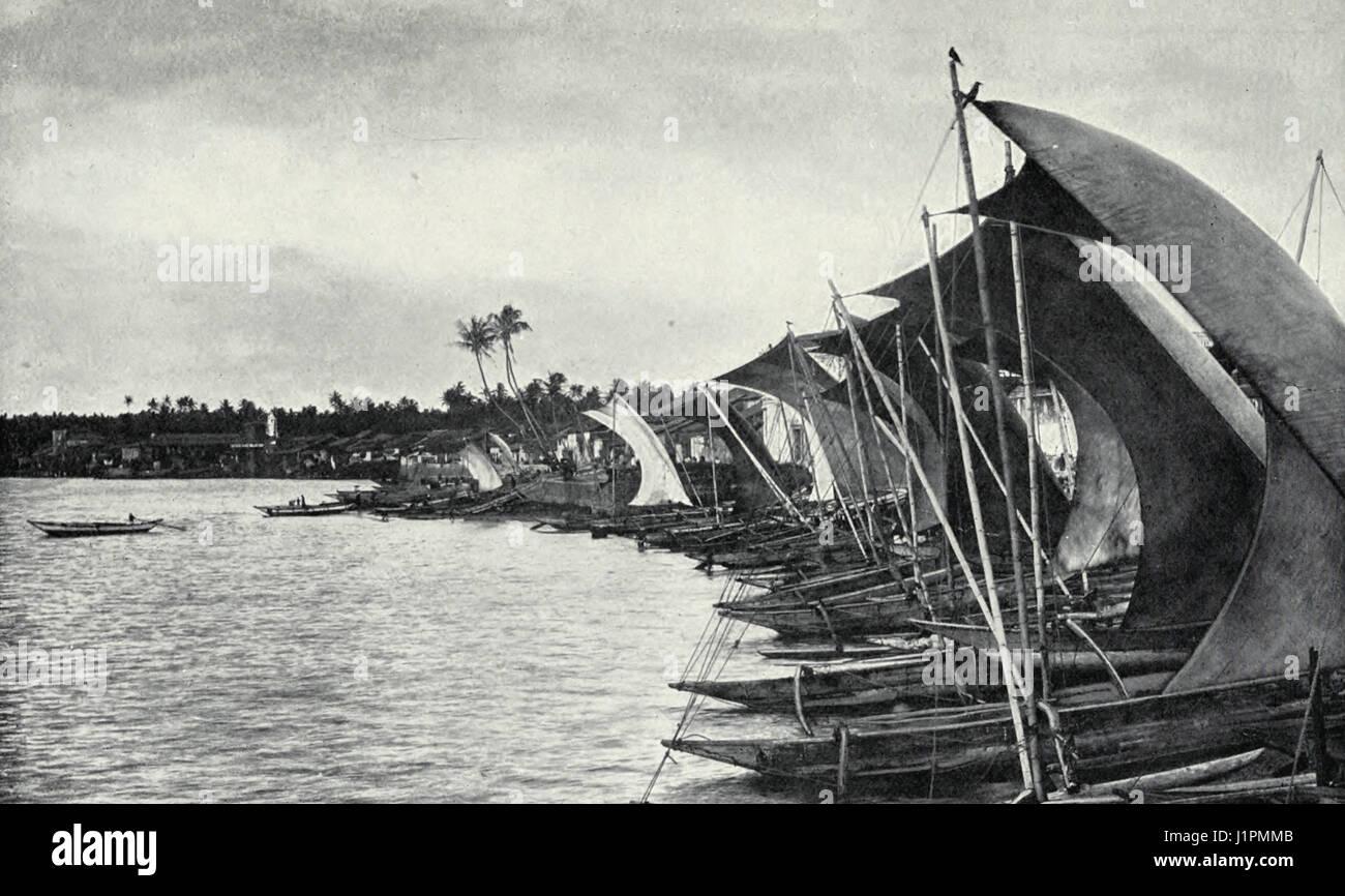 Ships in Colombo, Ceylon, circa 1900 - Stock Image