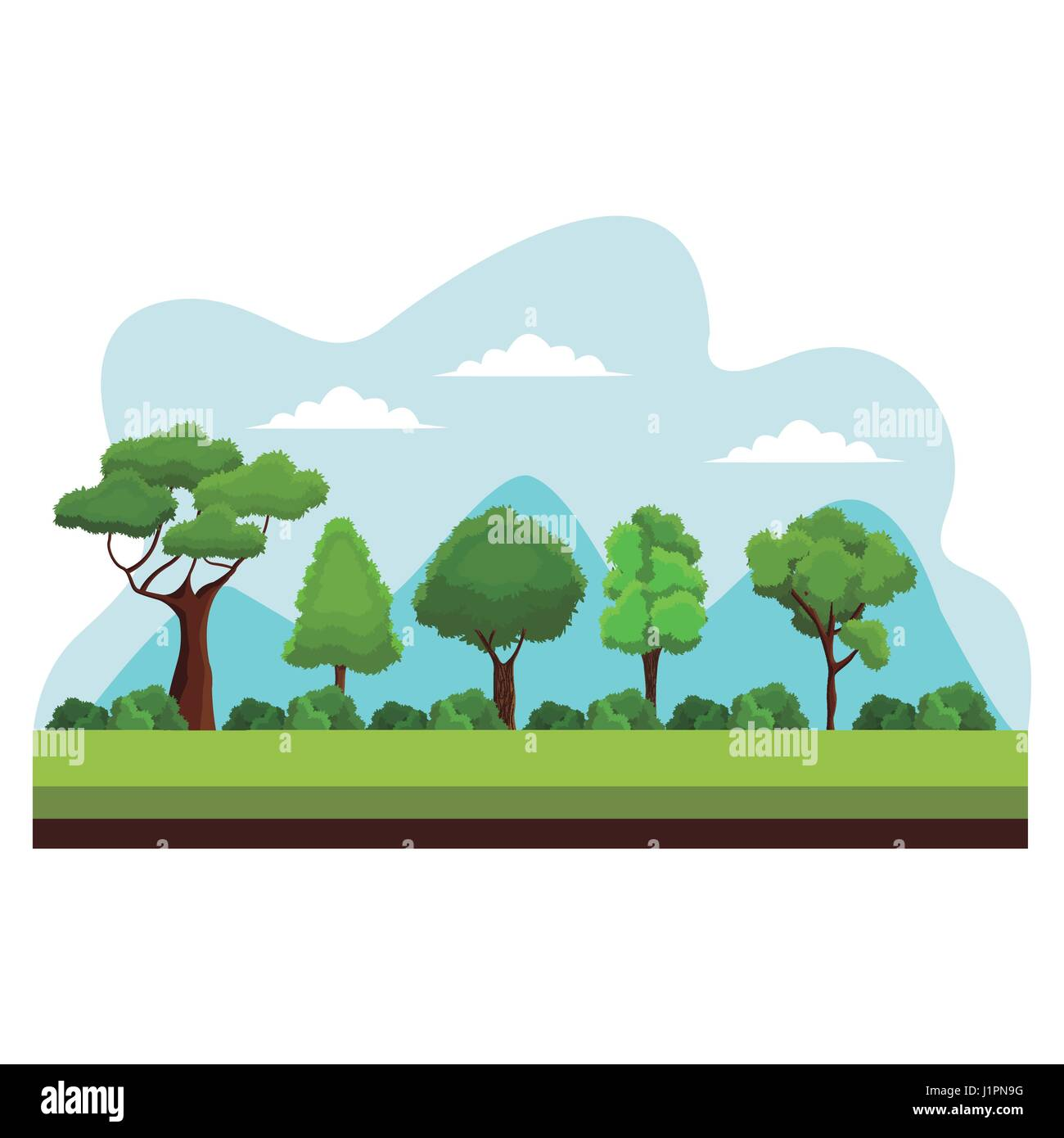 Nature Ecology: Tree Growing Earth Ecology Stock Vector Images