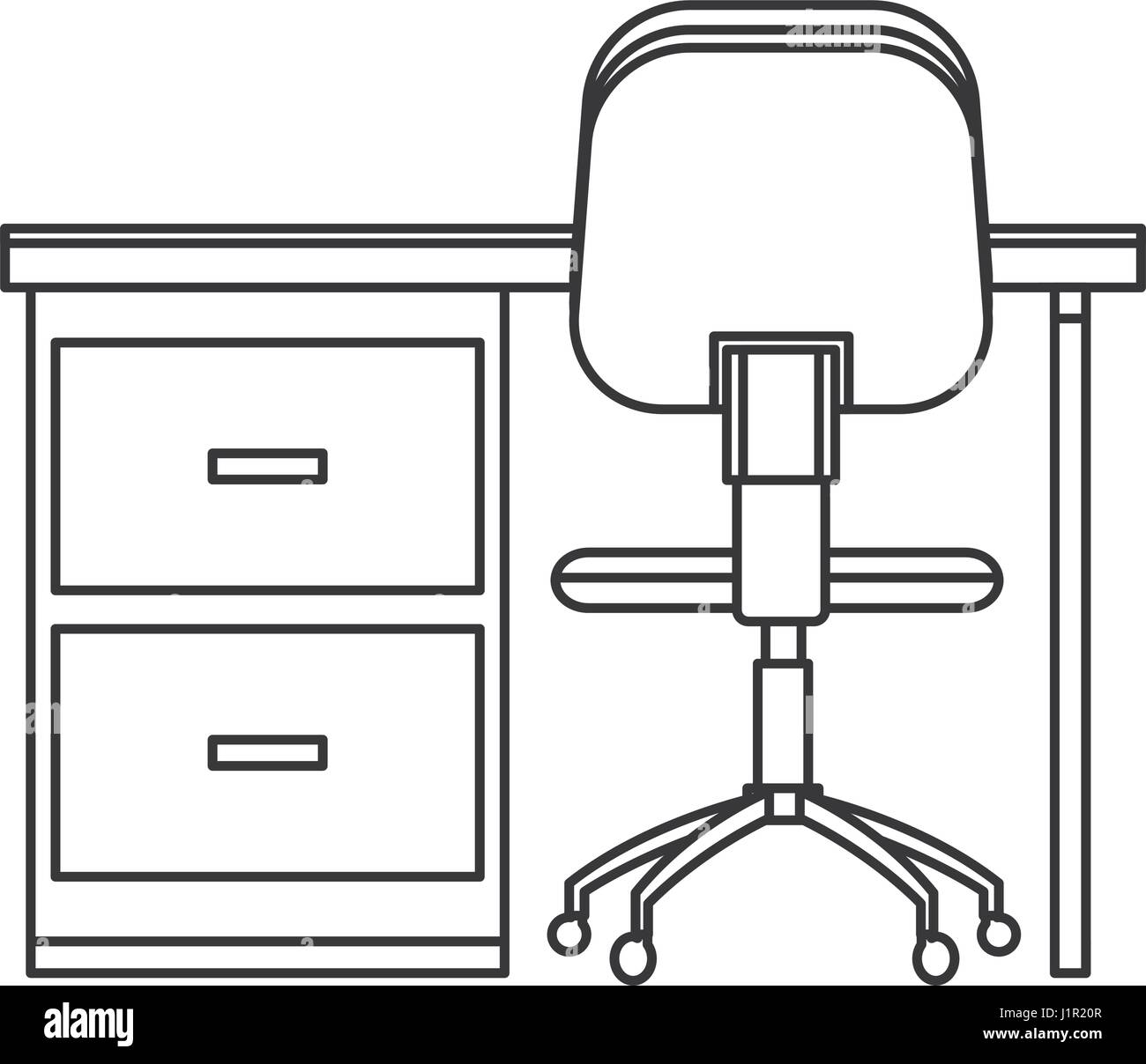 Super Desk Chair Workplace Image Outline Stock Vector Art Onthecornerstone Fun Painted Chair Ideas Images Onthecornerstoneorg