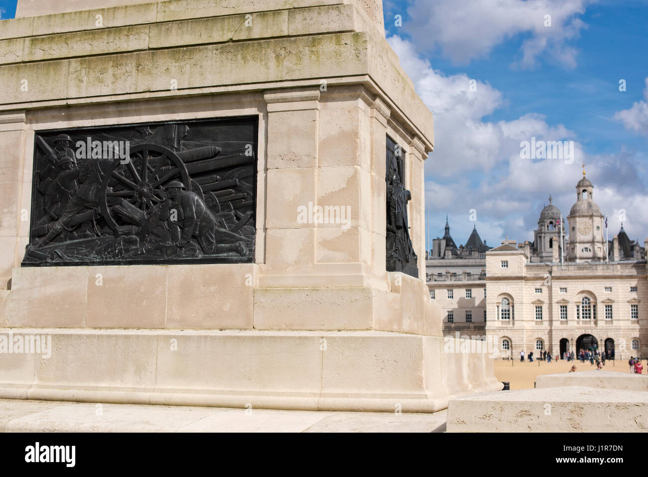 The Guards Memorial at Horse Guards Parade . Whitehall, London. England - Stock Image