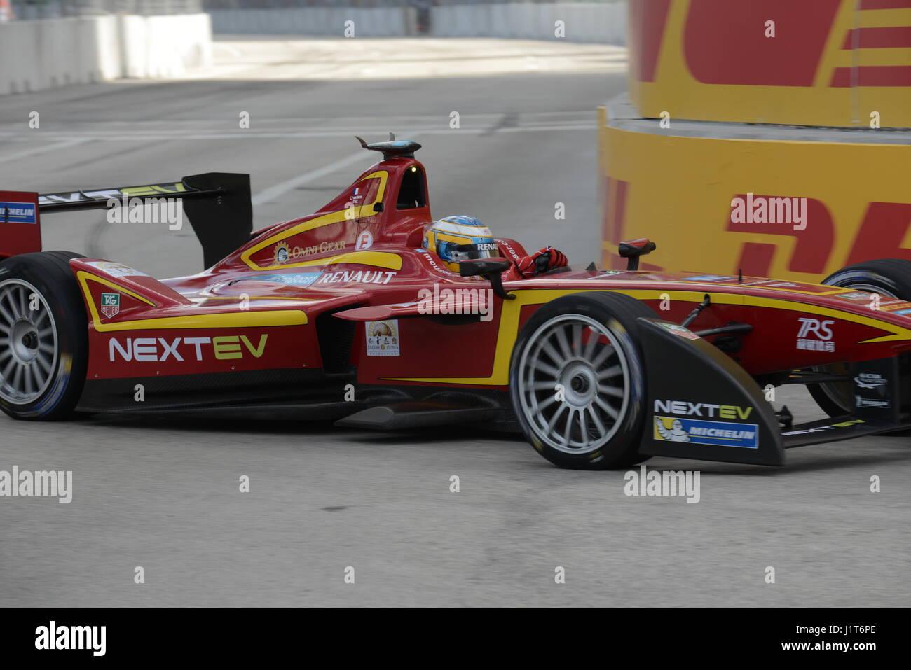 formula E racing on the streets - Stock Image