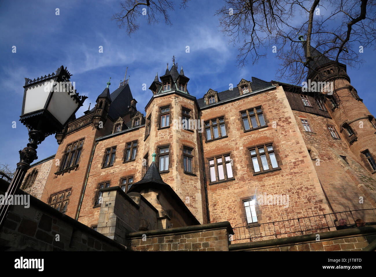 Castle, Wernigerode, Saxony-Anhalt, Germany, Europe - Stock Image