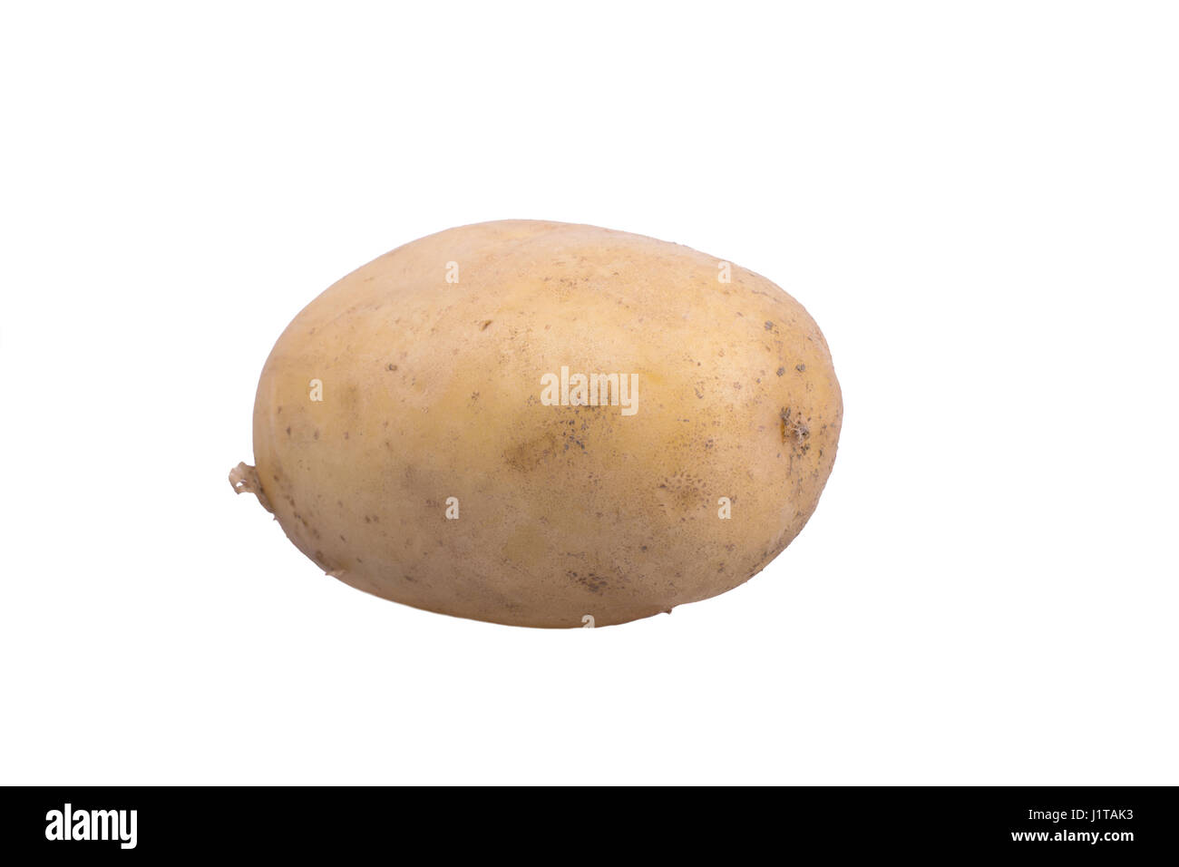 fresh medium sized potato on white background - Stock Image