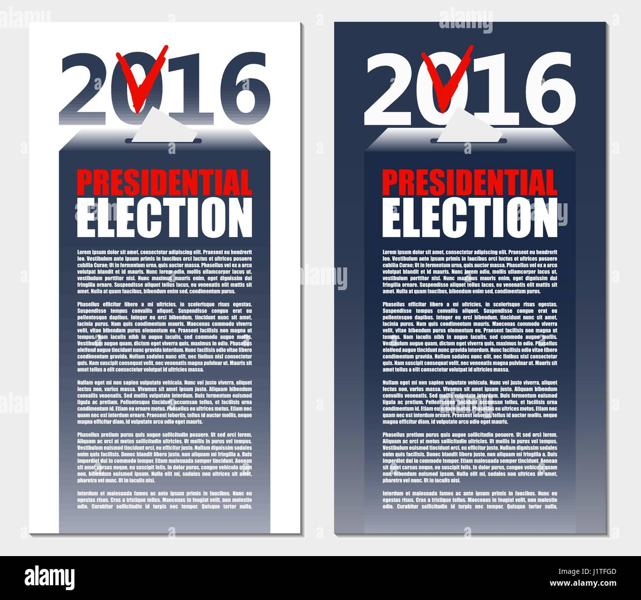 American Election 2016 background. Poster or brochure template. - Stock Image