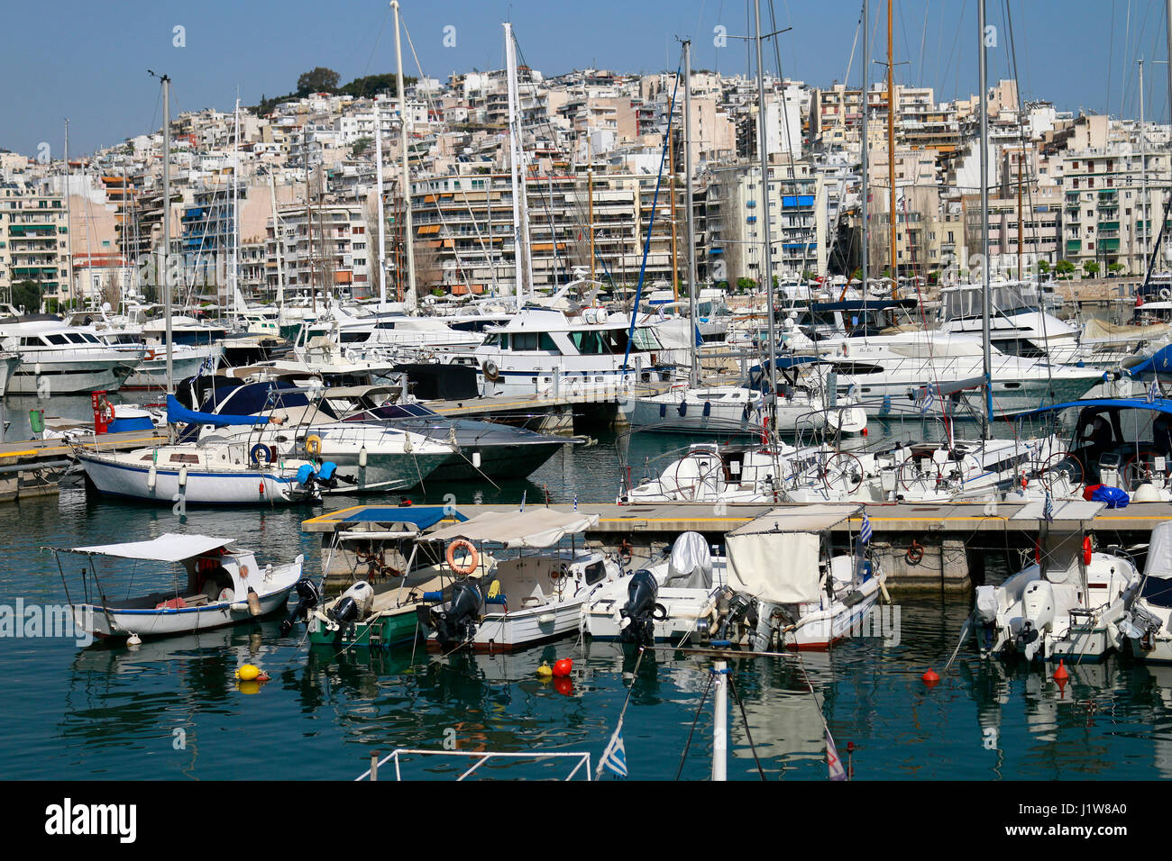 Yachthafen, Piraeus, Griechenland. Stock Photo