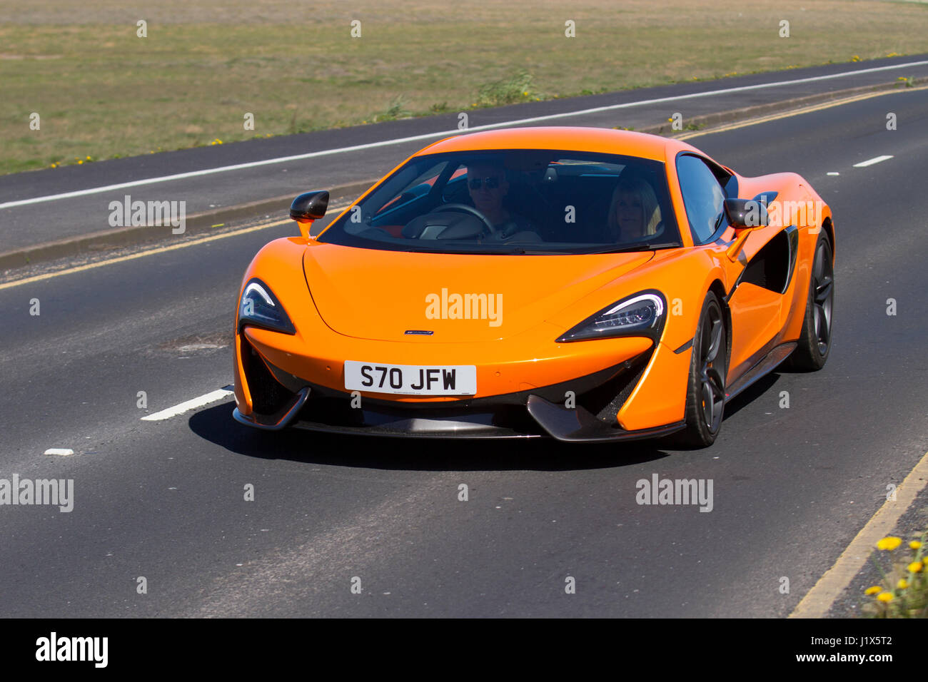 orange 2017 mclaren 570s coupe auto, priced from £143,000, driving
