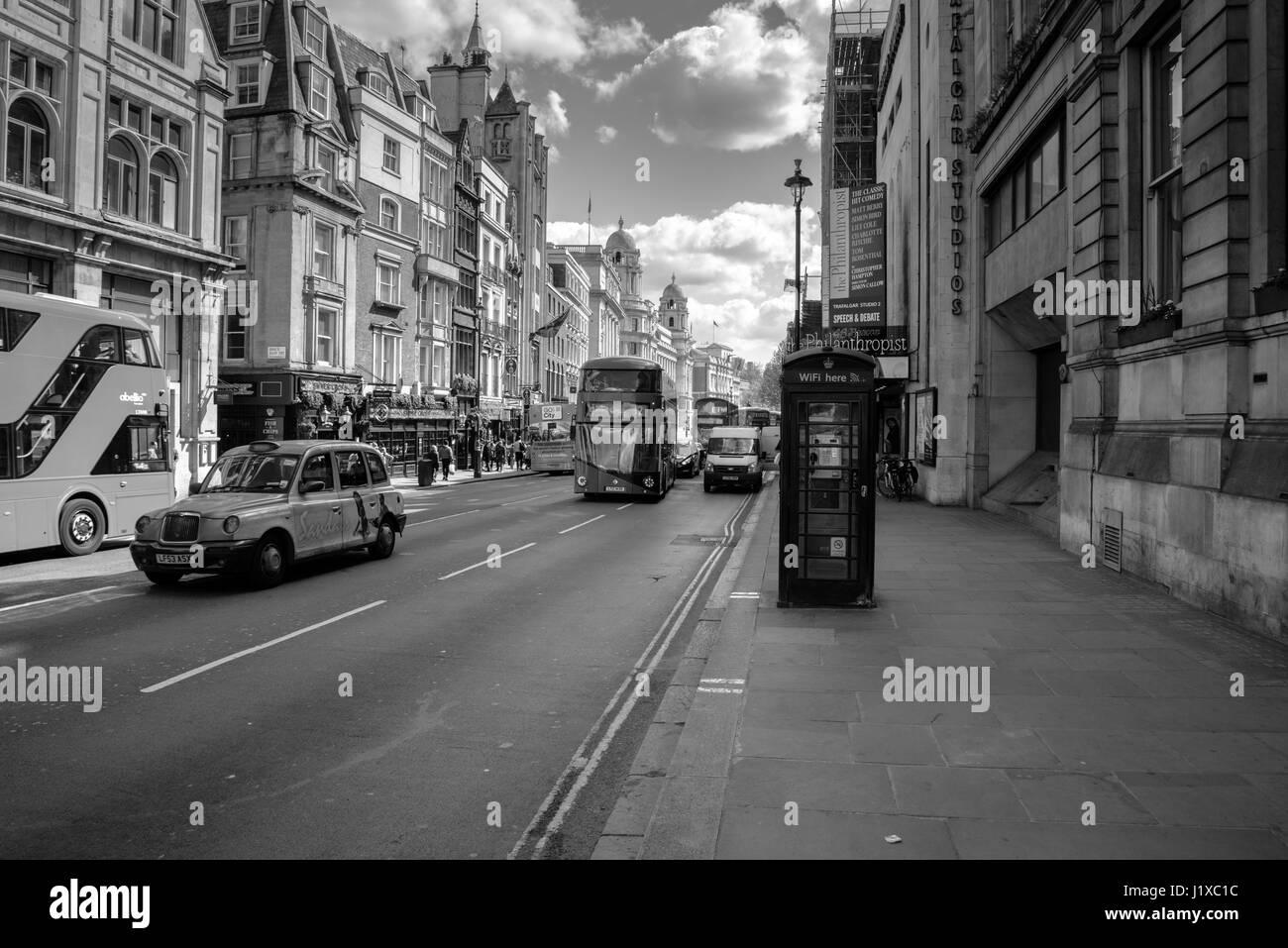Whitehall, London street, United Kingdom - Stock Image