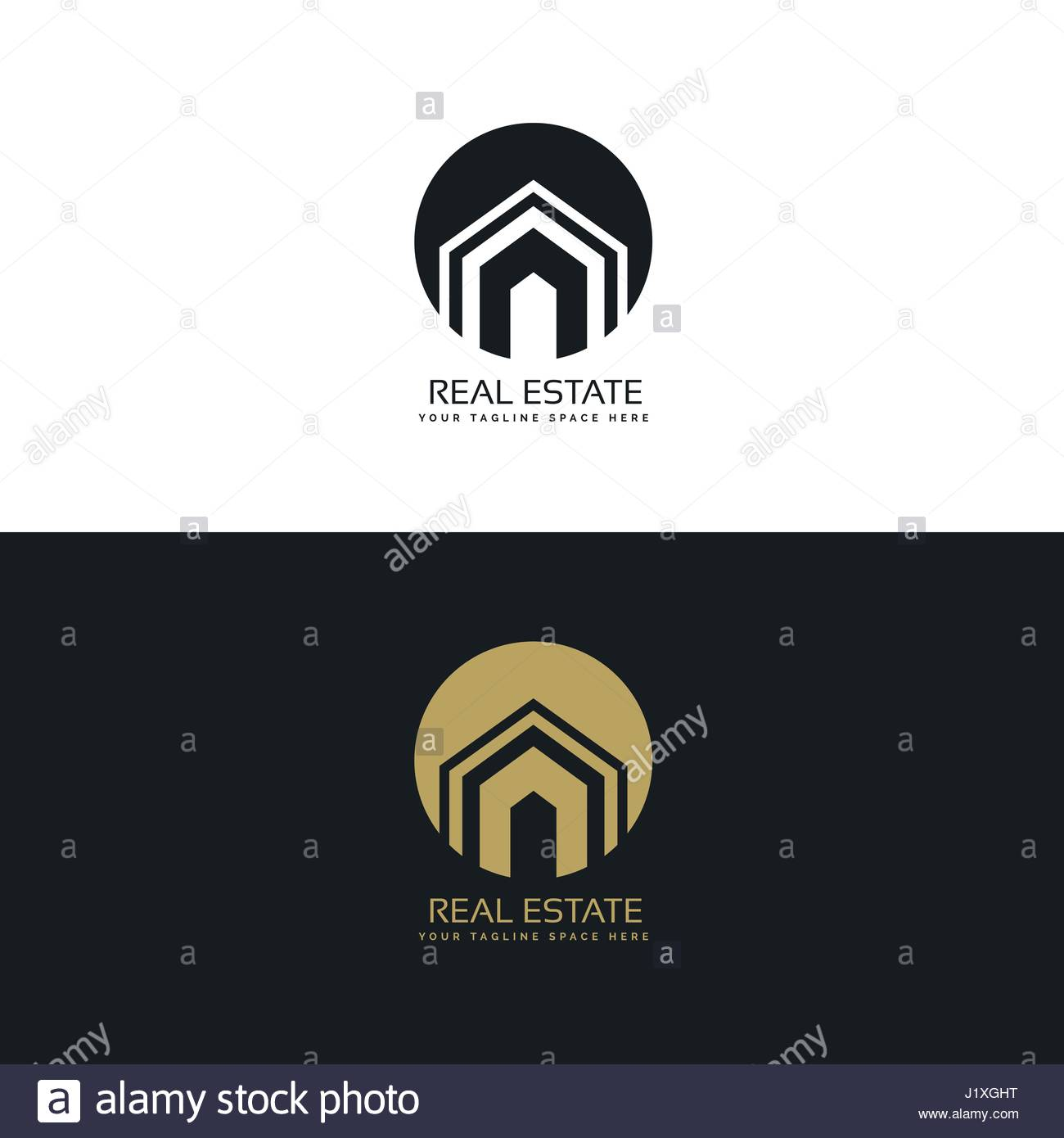 modern real estate or house logo design concept Stock Vector