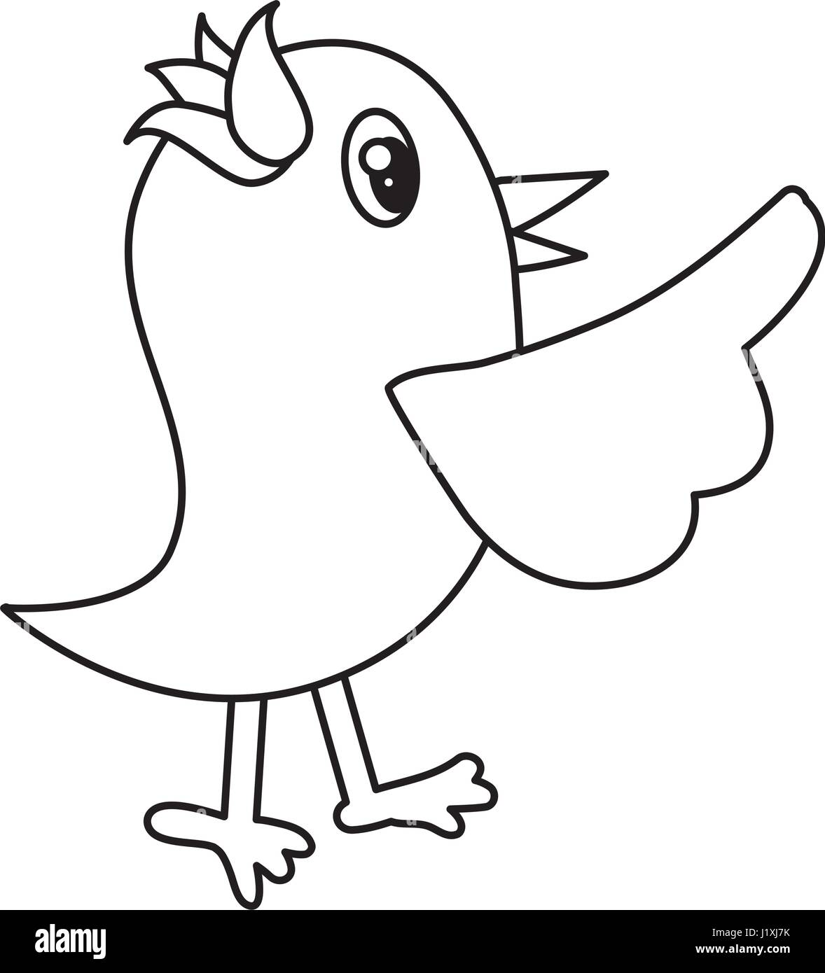 Flying Bird Cartoon Black And White Stock Photos Images Alamy