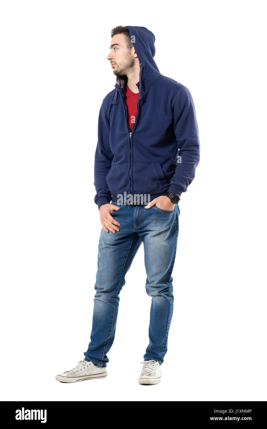 full body hoodie cool young guy in hoodie with hands in pockets looking 1504