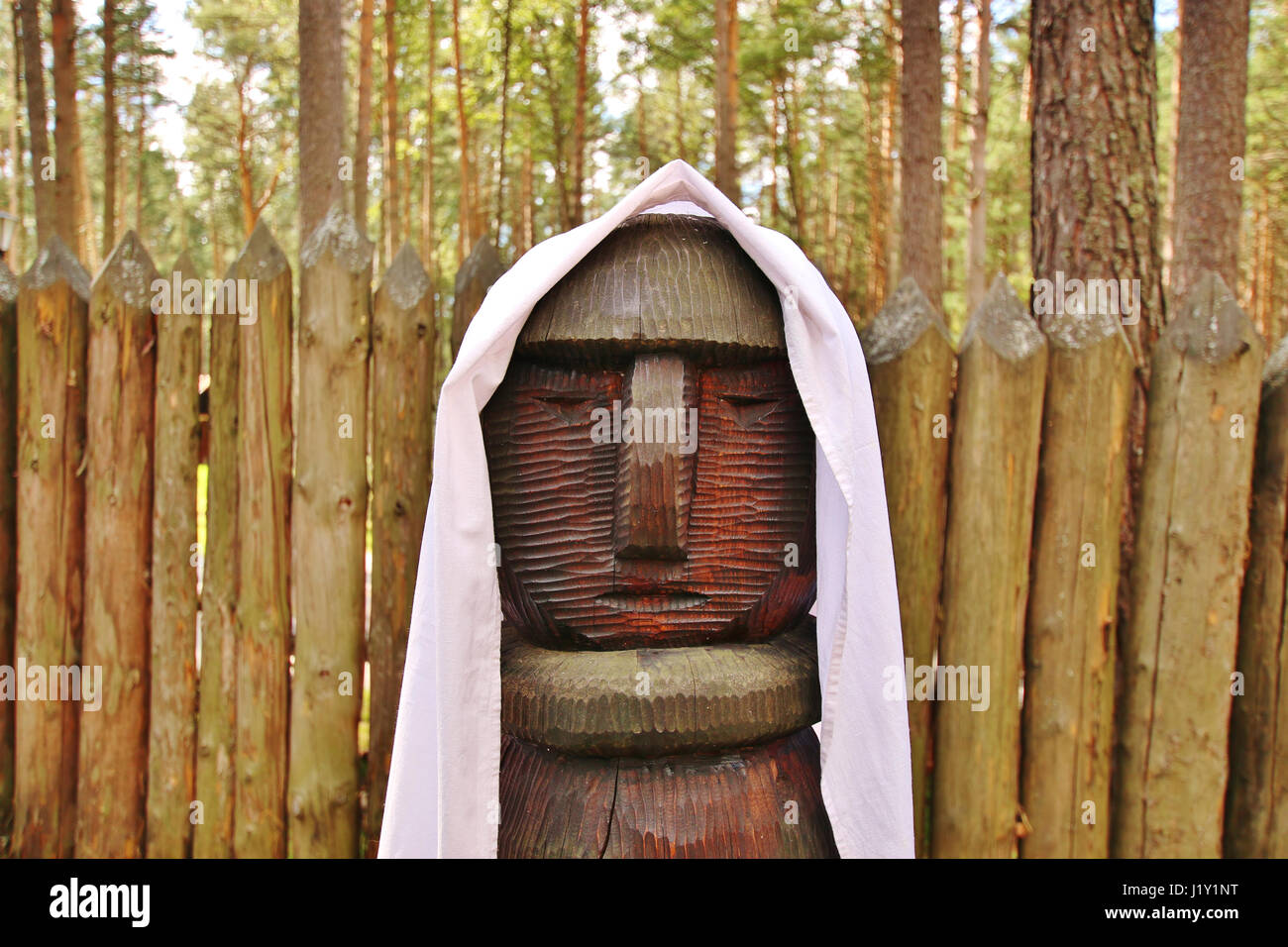 The object of worship of the Slavic peoples in Siberia, Russia - Stock Image