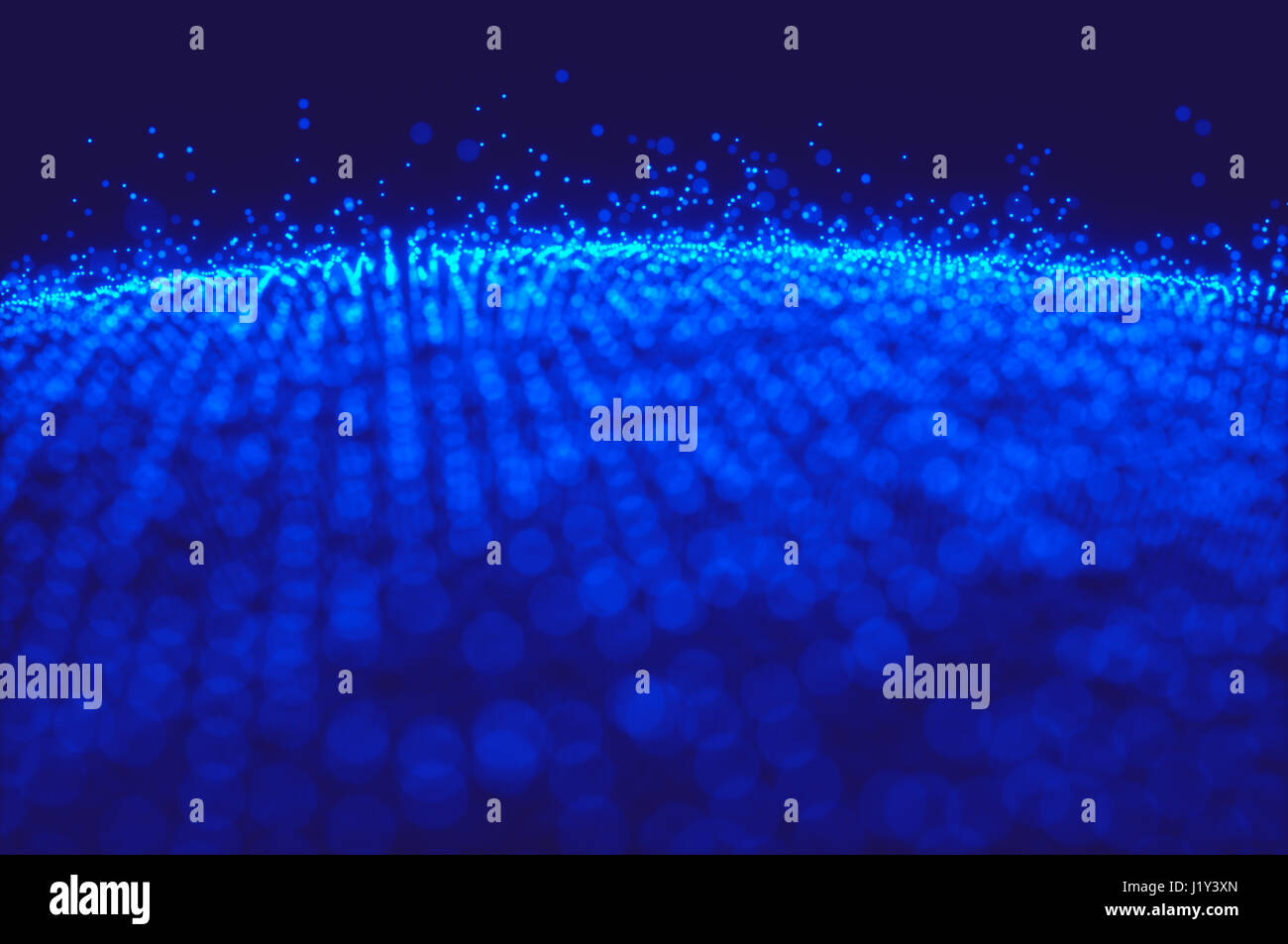 3D illustration of sphere-shaped dots representing the data circulating on planet earth. - Stock Image