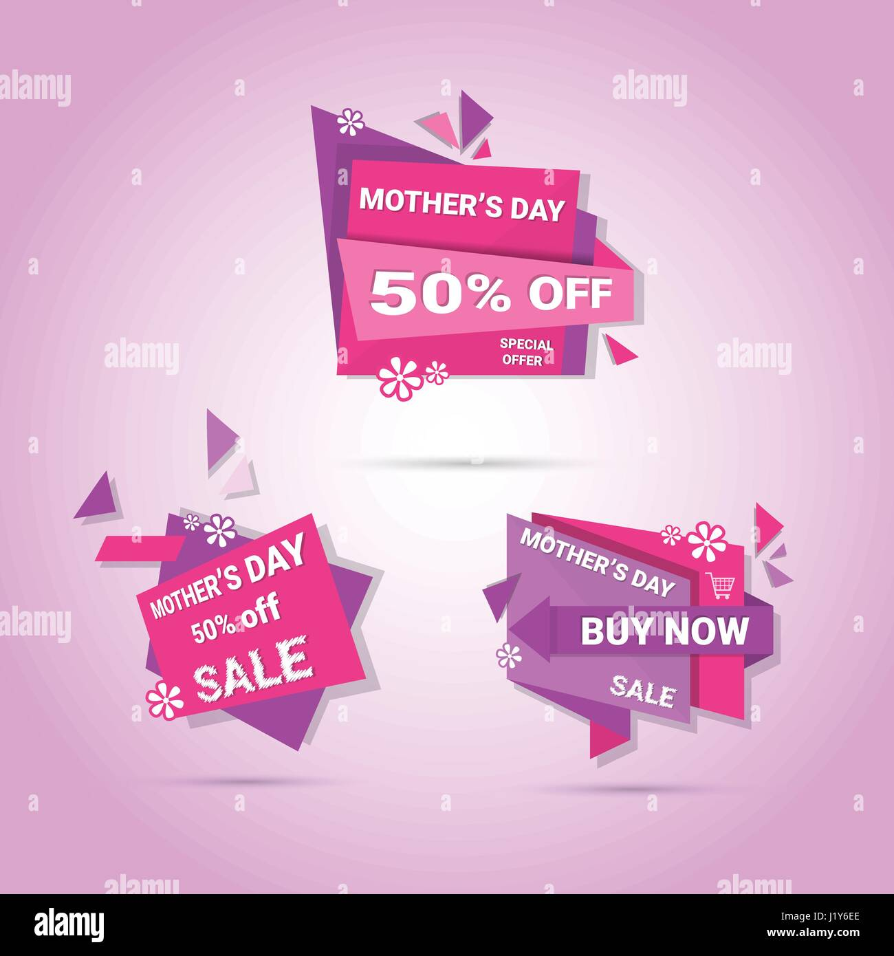 Shopping Sale Happy Mother Day Discount Sticker Set Spring Holiday