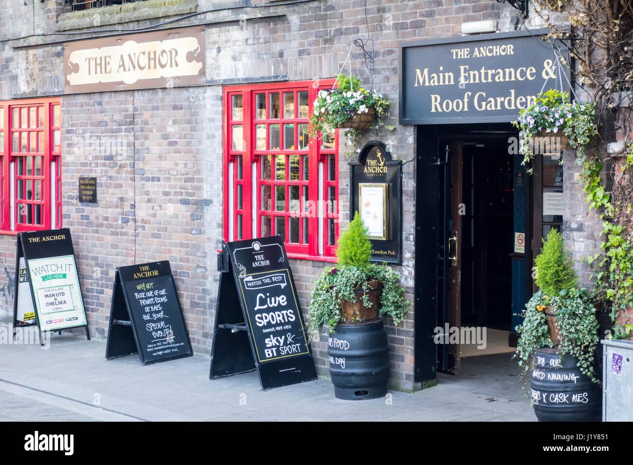 The Anchor Bankside, pub, public house, London, UK - Stock Image