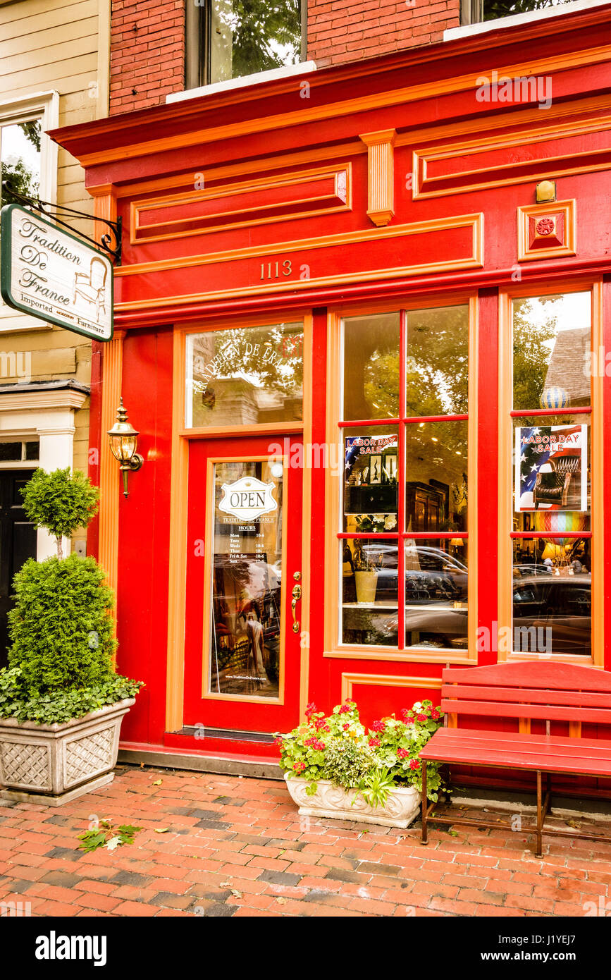 Tradition De France Furniture Store, 1113 King Street, Old Town Alexandria,  Virginia