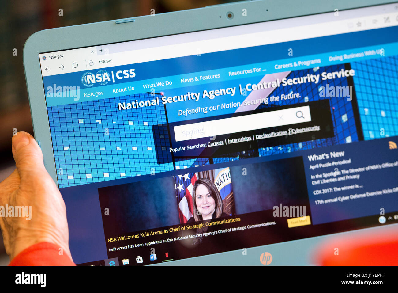 NSA National Security Agency, Central Security Service website screen - Stock Image