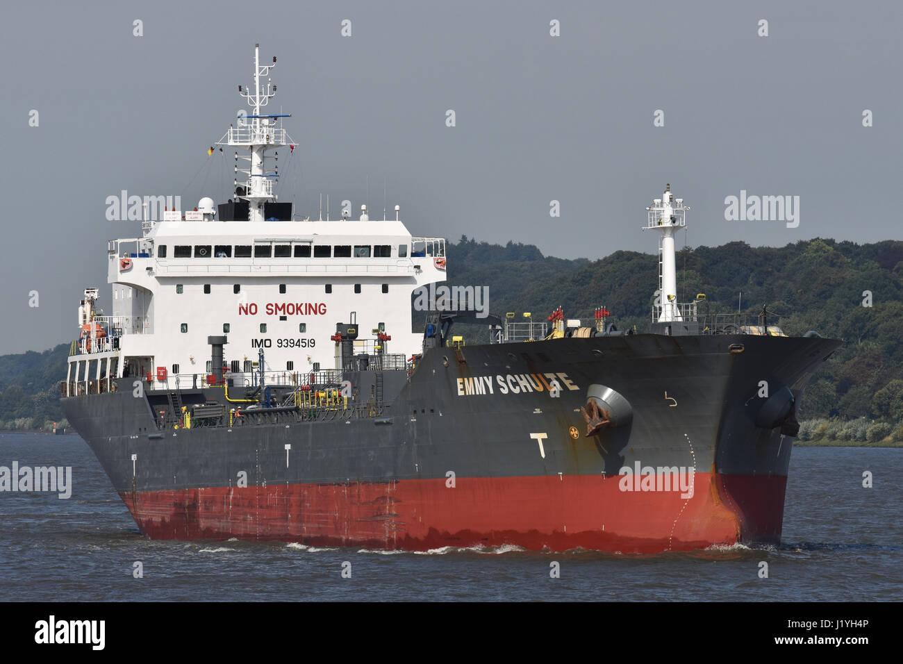 Emmy Schulte inbound port of Hamburg Stock Photo