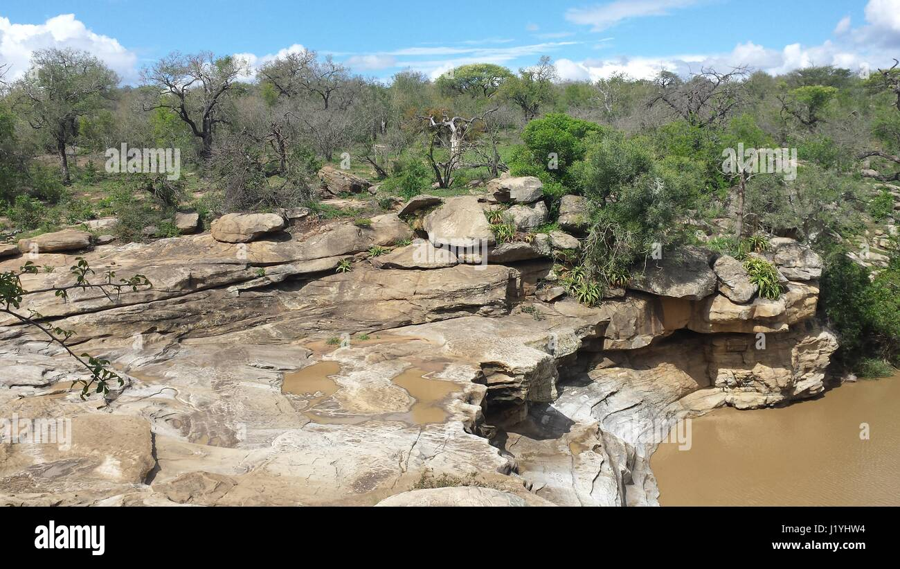 Oasis In South African Bush Land Stock Photo 138904336 Alamy