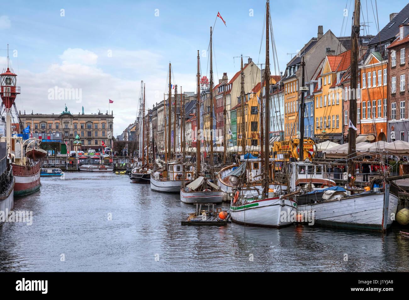 Nyhavn, Copenhagen, Denmark, Scandinavia - Stock Image