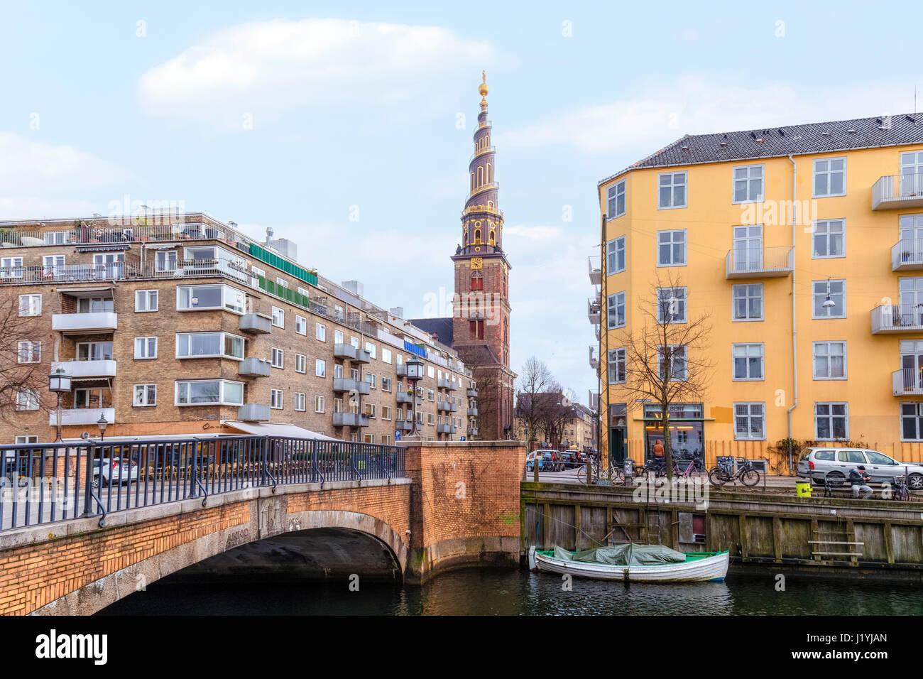 Church of Our Saviour, Copenhagen, Denmark, Scandinavia Stock Photo