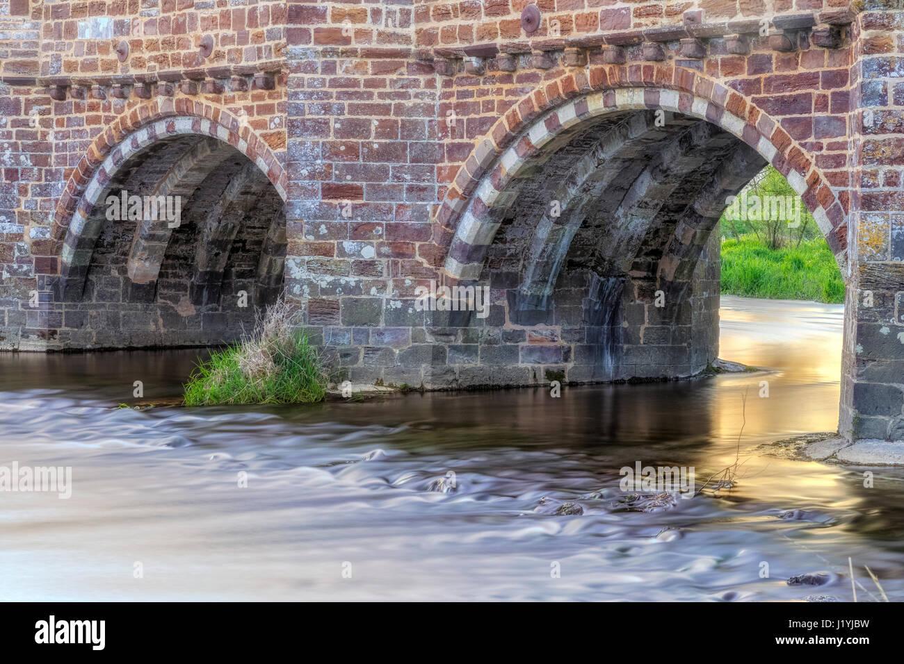 White Mill Bridge, Sturminster Marshall, Dorset, England, UK - Stock Image