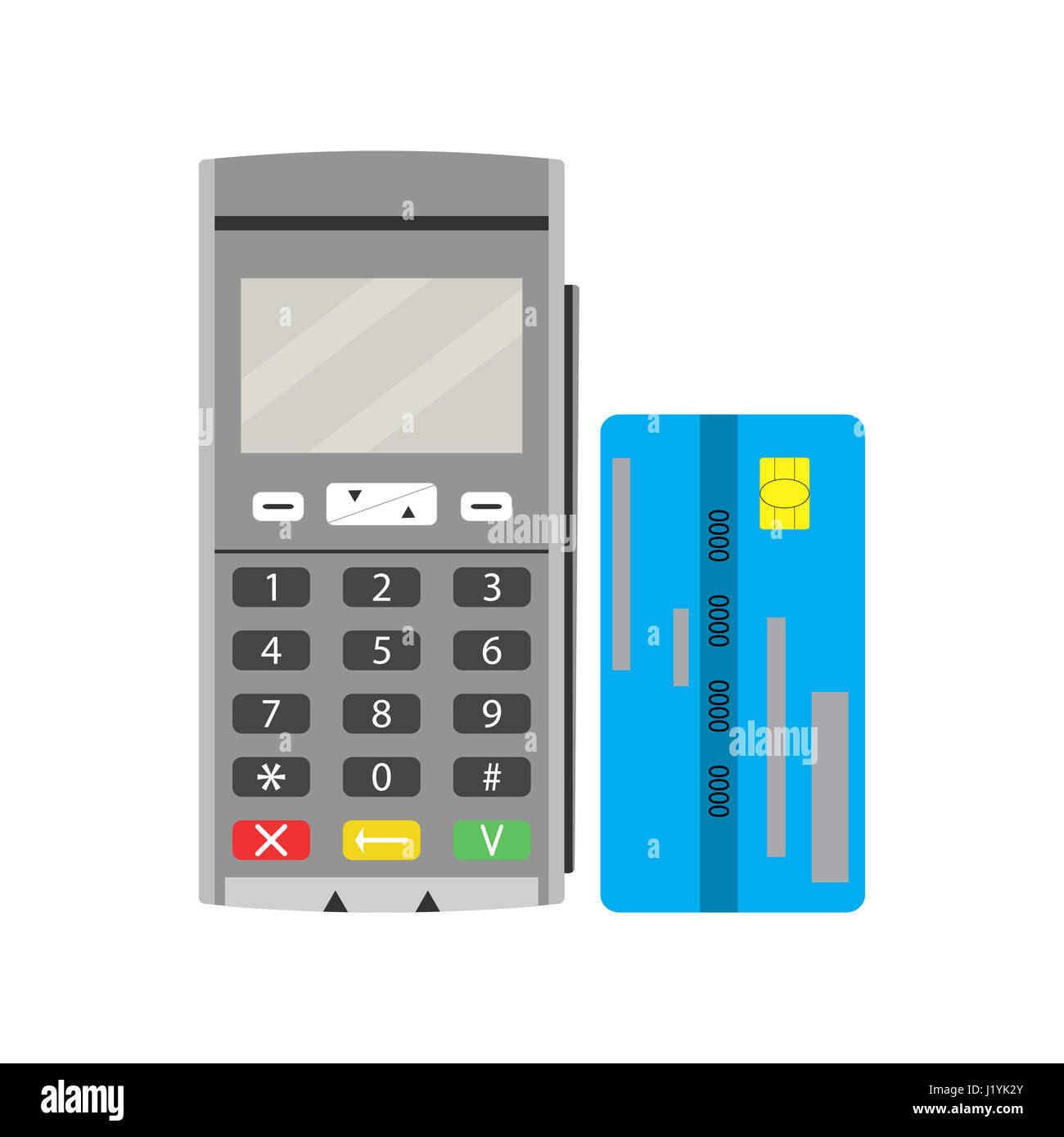 Terminal and credit card. Modern pay financial, checkout finance buy ...